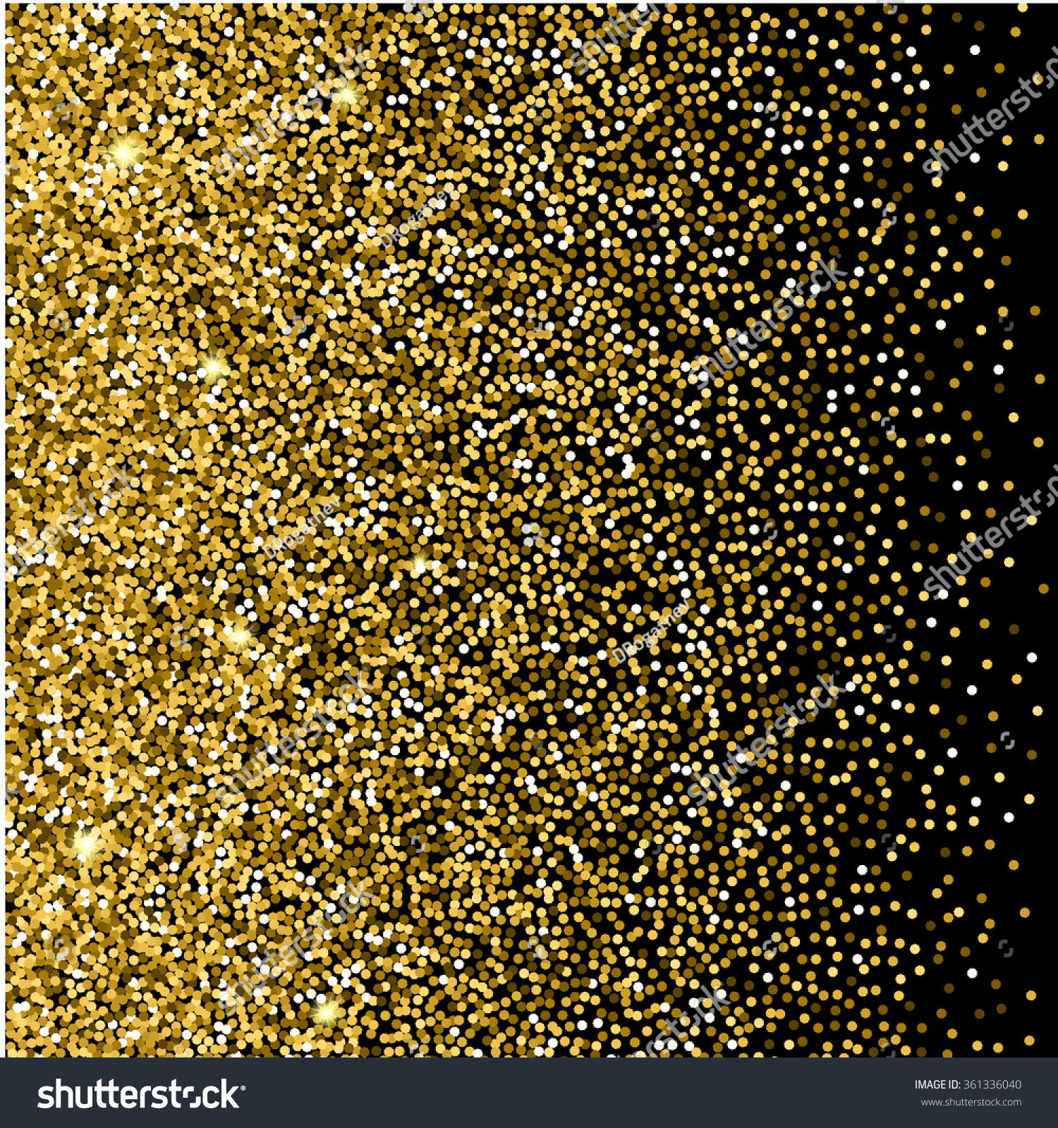Gold glitter background gold sparkles on stock vector 361336040 gold glitter background gold sparkles on black background creative invitation for party holiday stopboris Images
