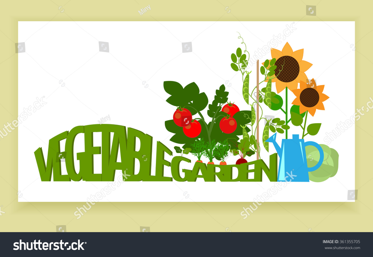 Vegetable garden graphic - Banner A Vegetable Garden Vegetables In The Garden And Text Country Garden Bedding