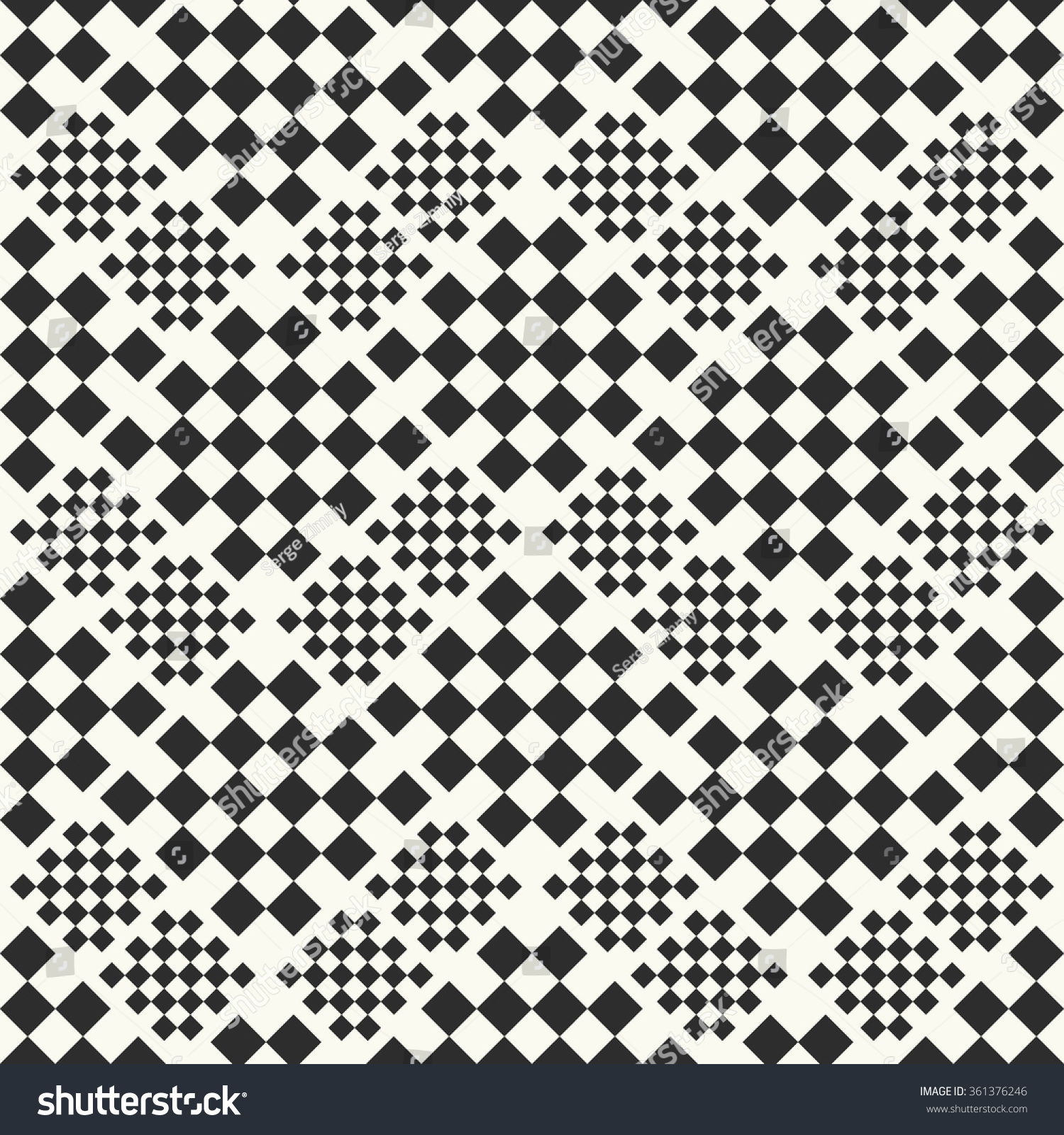 Checkered Design Vector Seamless Pattern Fabric Background Checkered Stock Vector