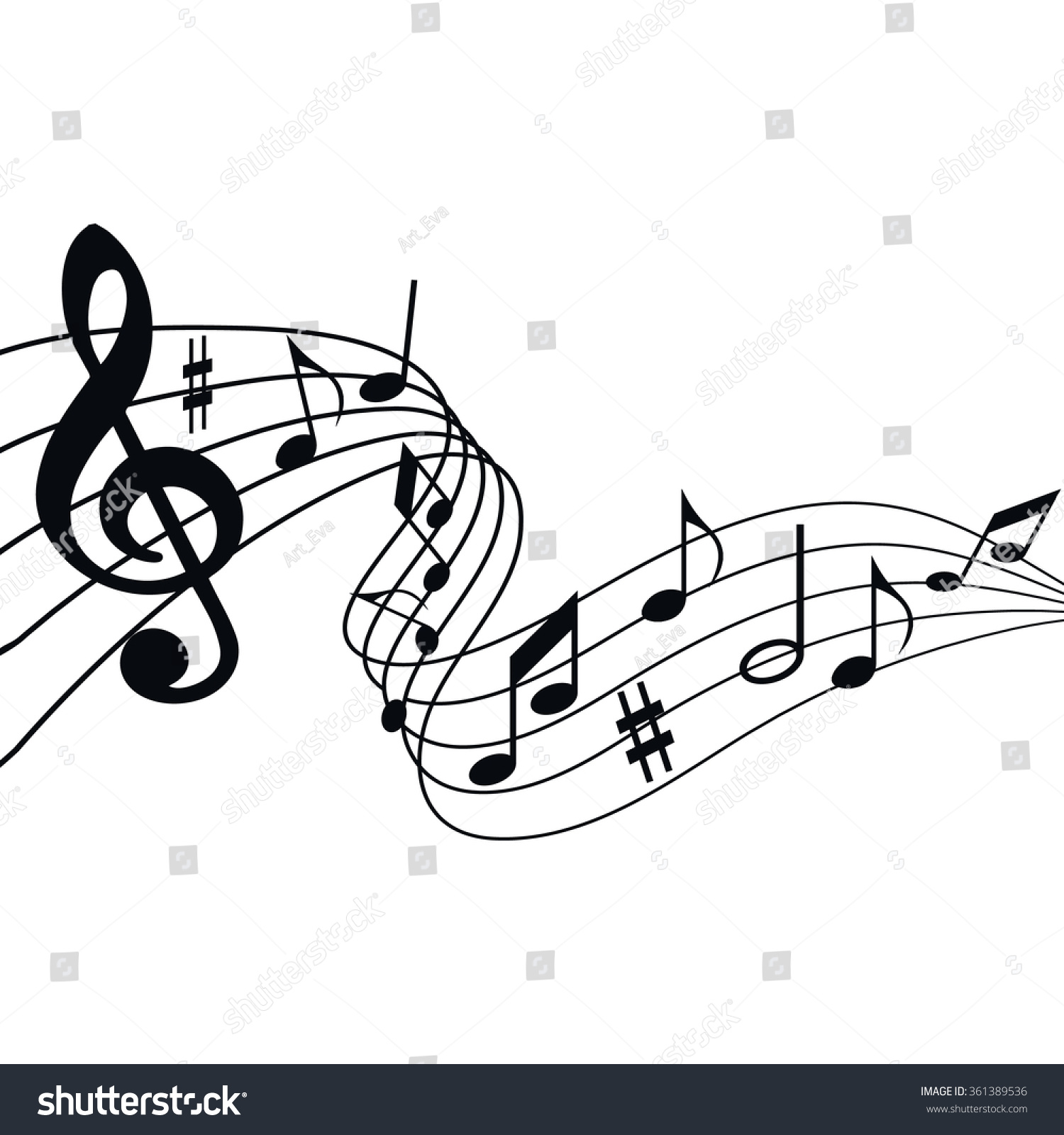 illustration music songs notes melodies on stock vector 361389536