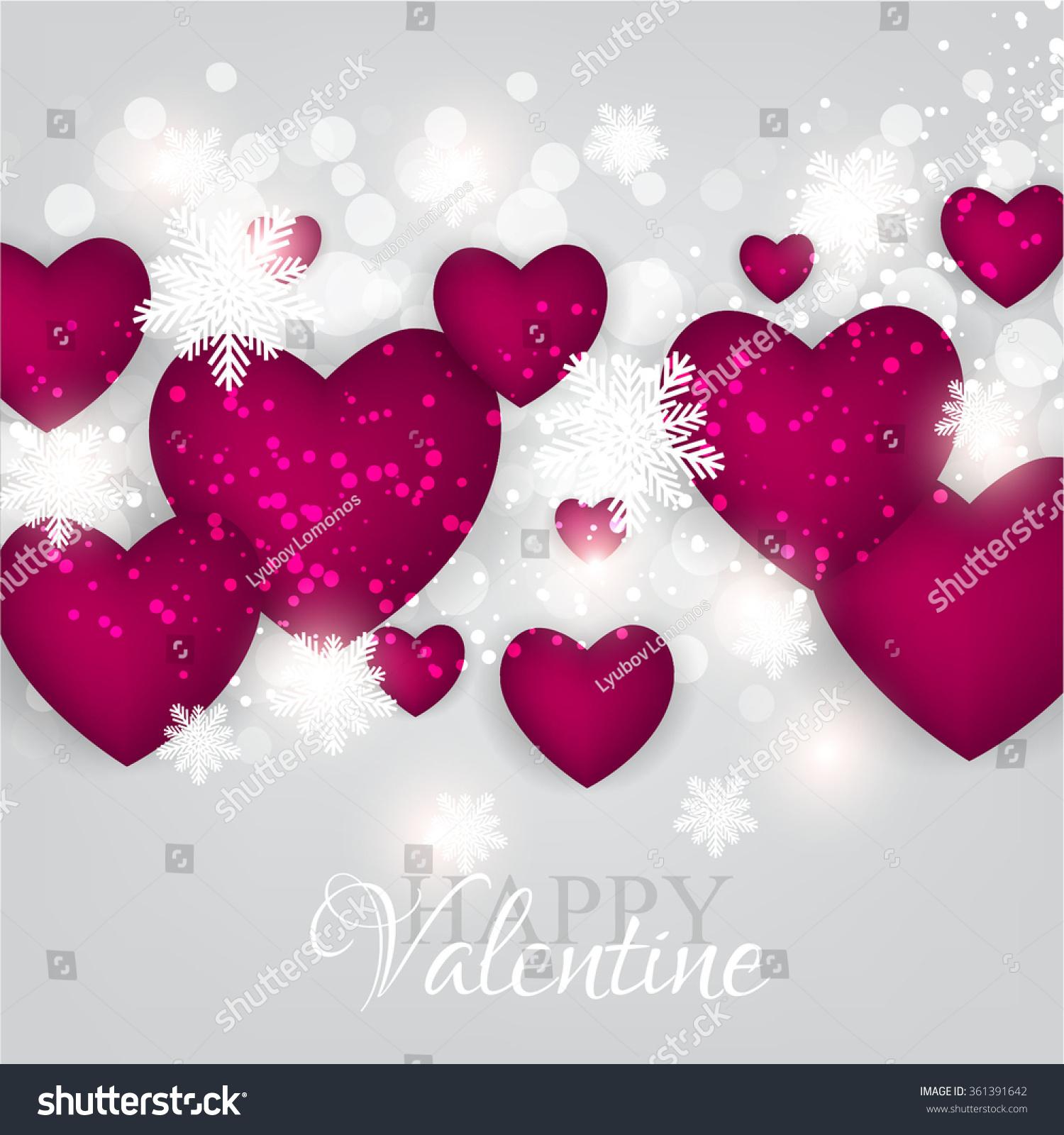 Heart garland vector
