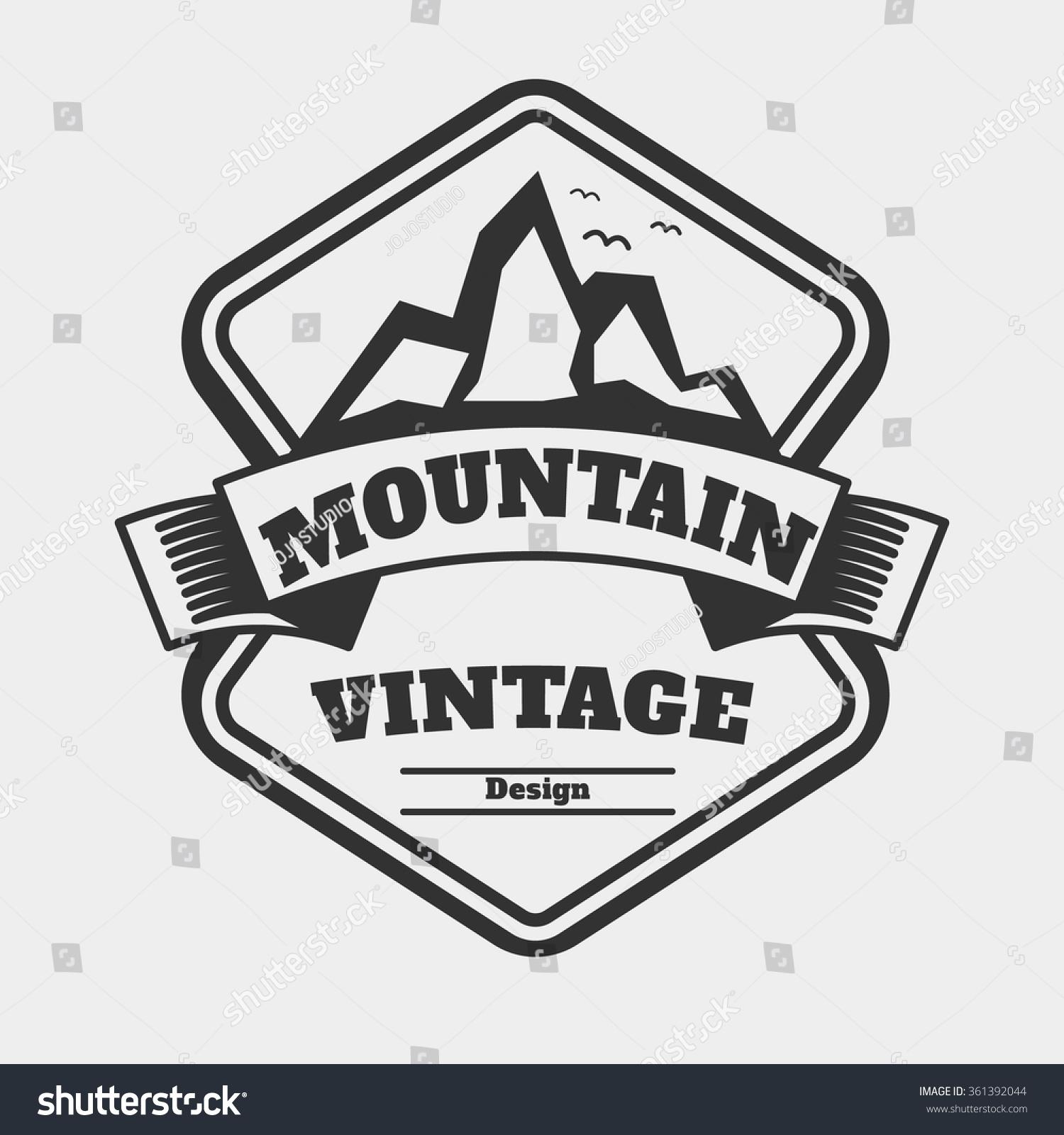 Vintage Badge Logo Concept Mountain Retro Stock Vector 361392044 ...