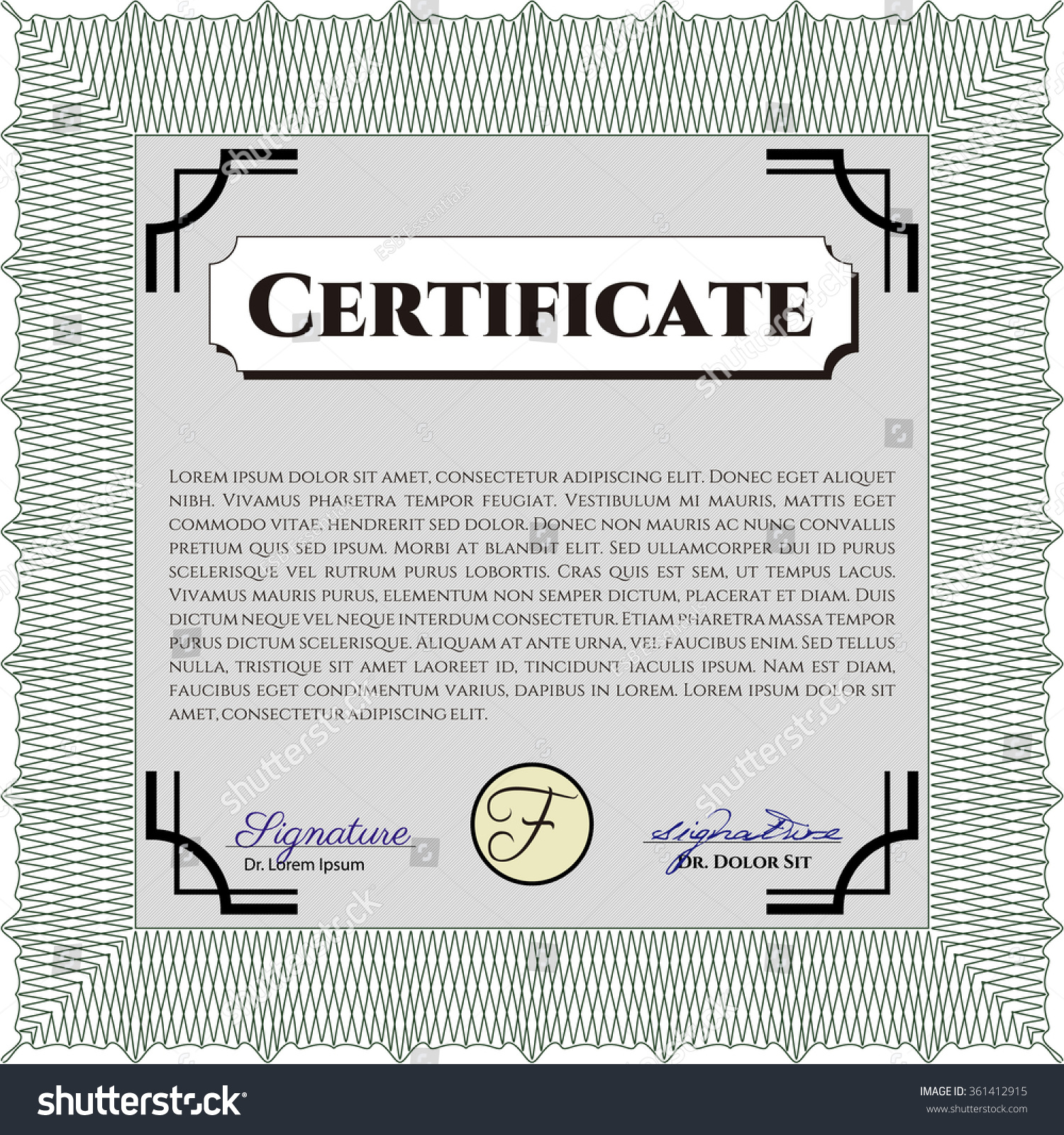 Certificate template diploma template lovely design stock vector certificate template or diploma template lovely design with guilloche pattern vector illustration xflitez Image collections