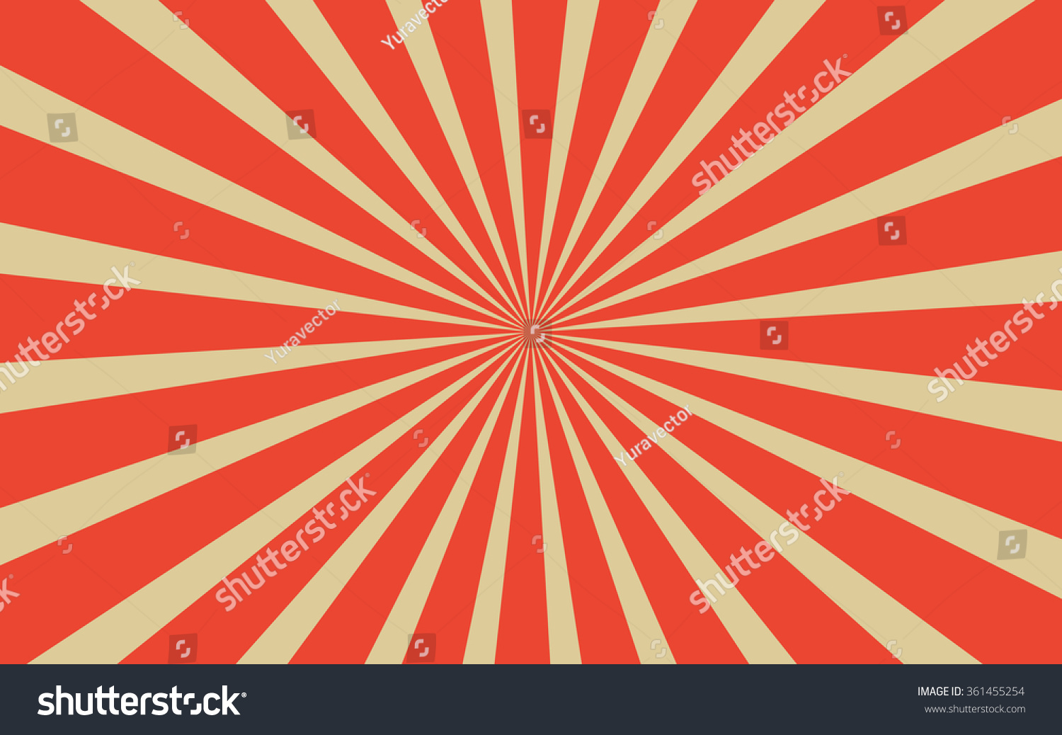 Vintage Red Radial Lines Background Rectangle Stock Vector ...