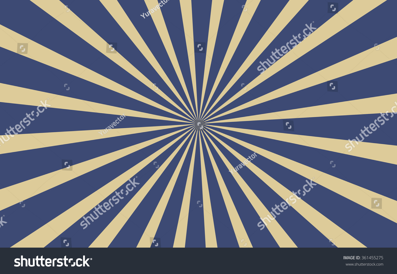 Vintage Blue Radial Lines Background Rectangle Stock Vector ...