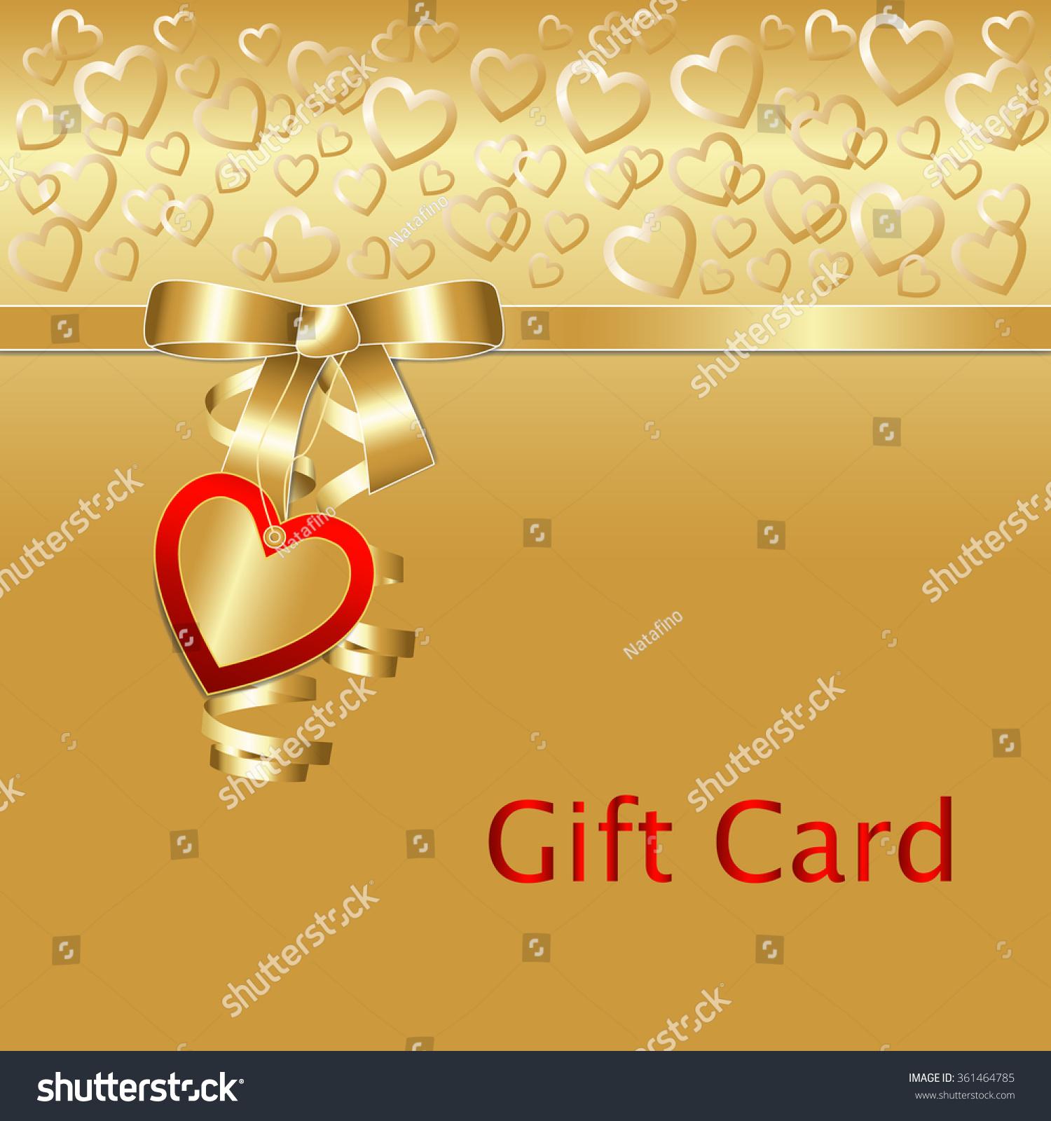 Gift Coupon Gift Card Heart Pattern Stock-Vektorgrafik (Lizenzfrei ...