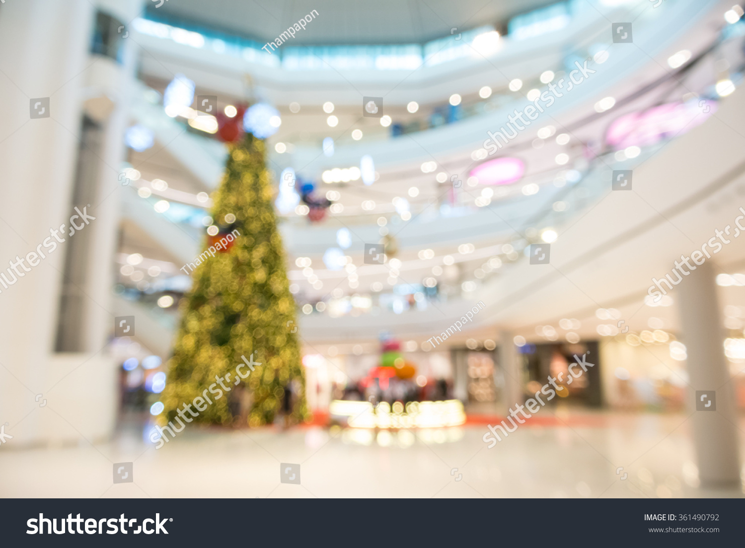 Abstract Blurry Defocus Background Shopping Mall Stock Photo (Edit ...