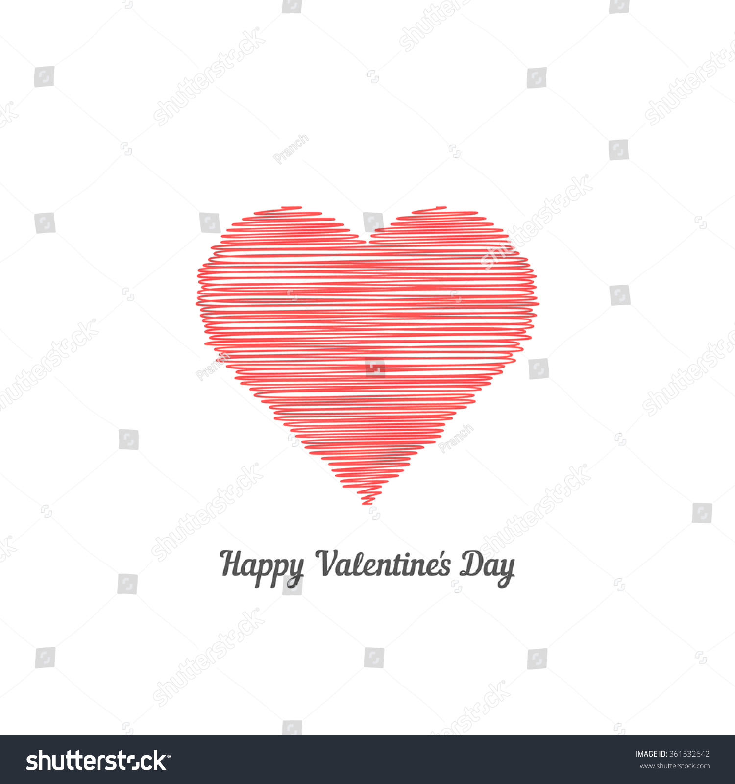 red scribble heart like happy valentine stock vector 361532642