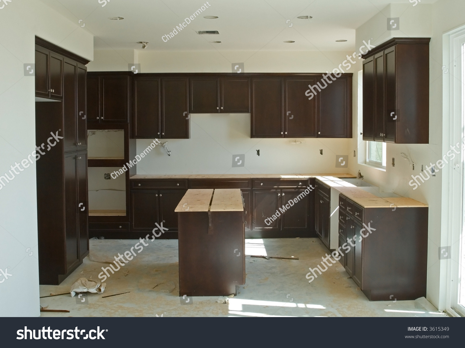 Finished Interior Wood Work New Home Stock Photo 3615349 Shutterstock