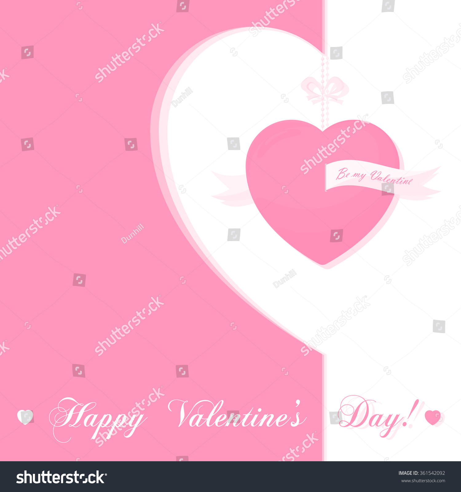 banner for design posters or invitations on valentines day with cutest symbol hearts and title