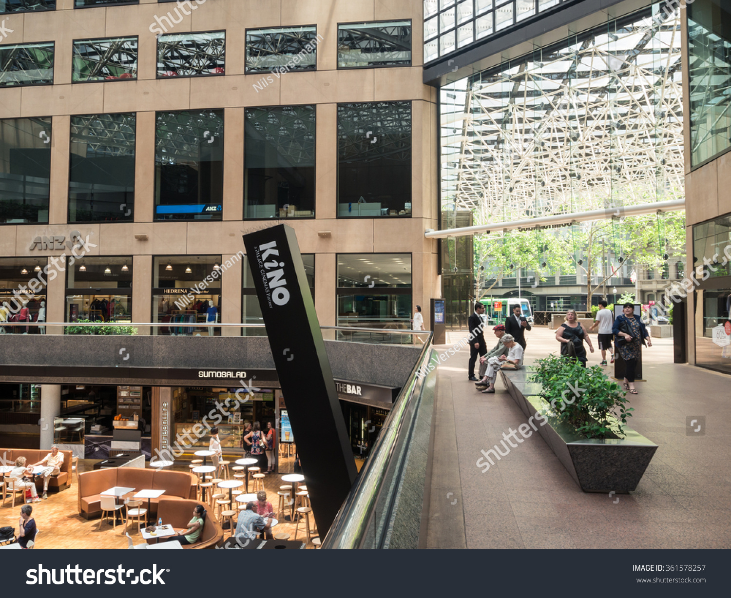 anz melbourne office. Melbourne, Australia - January 2, 2016: Collins Place Is An Office Tower And Anz Melbourne