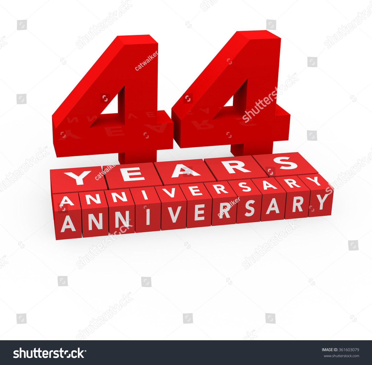 Royalty free 3d render 44 years anniversary on a 361603079 stock 3d render 44 years anniversary on a white background 361603079 biocorpaavc Gallery