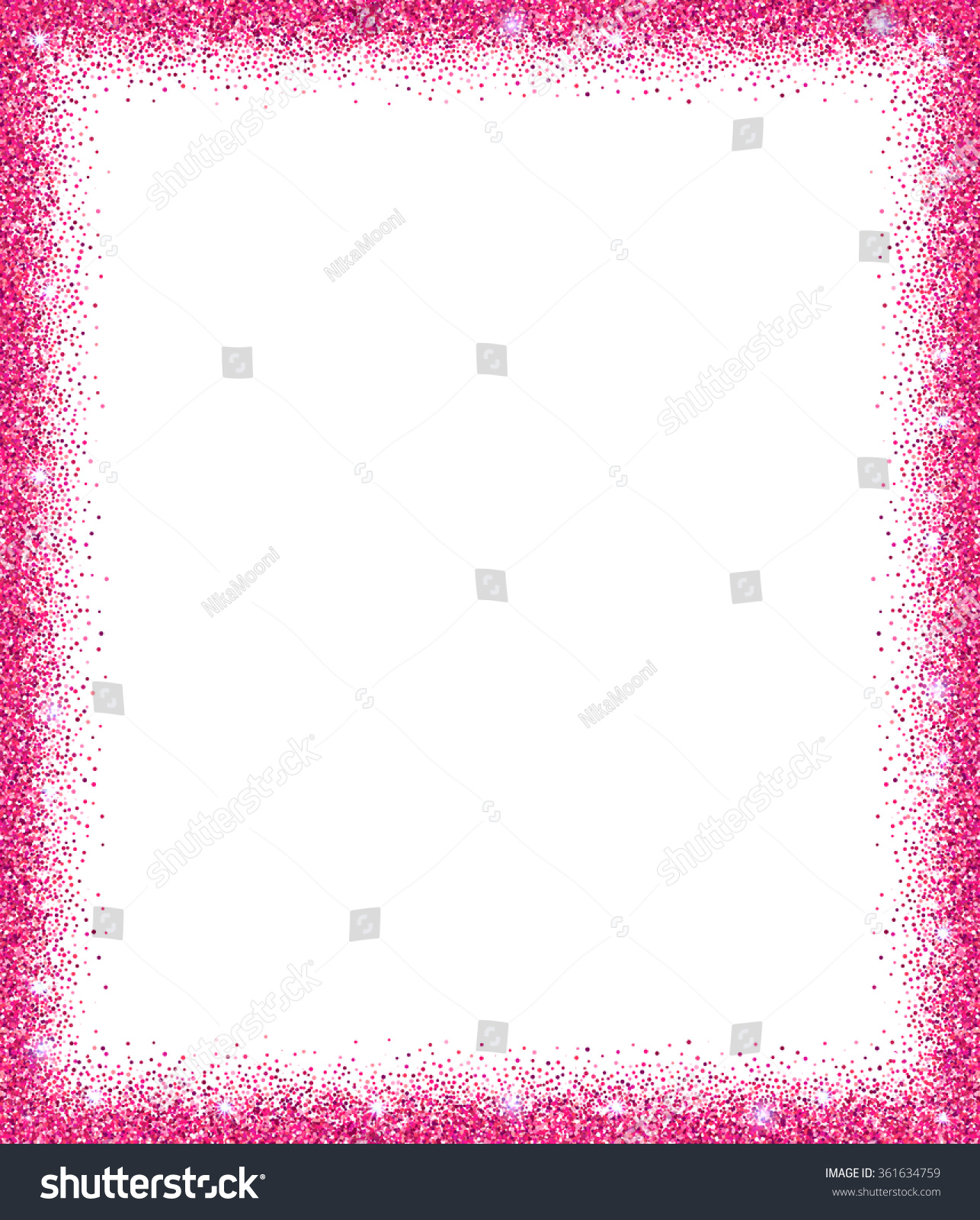Pink Glitter Background Pink Sparkle Frame Stock Vector ...