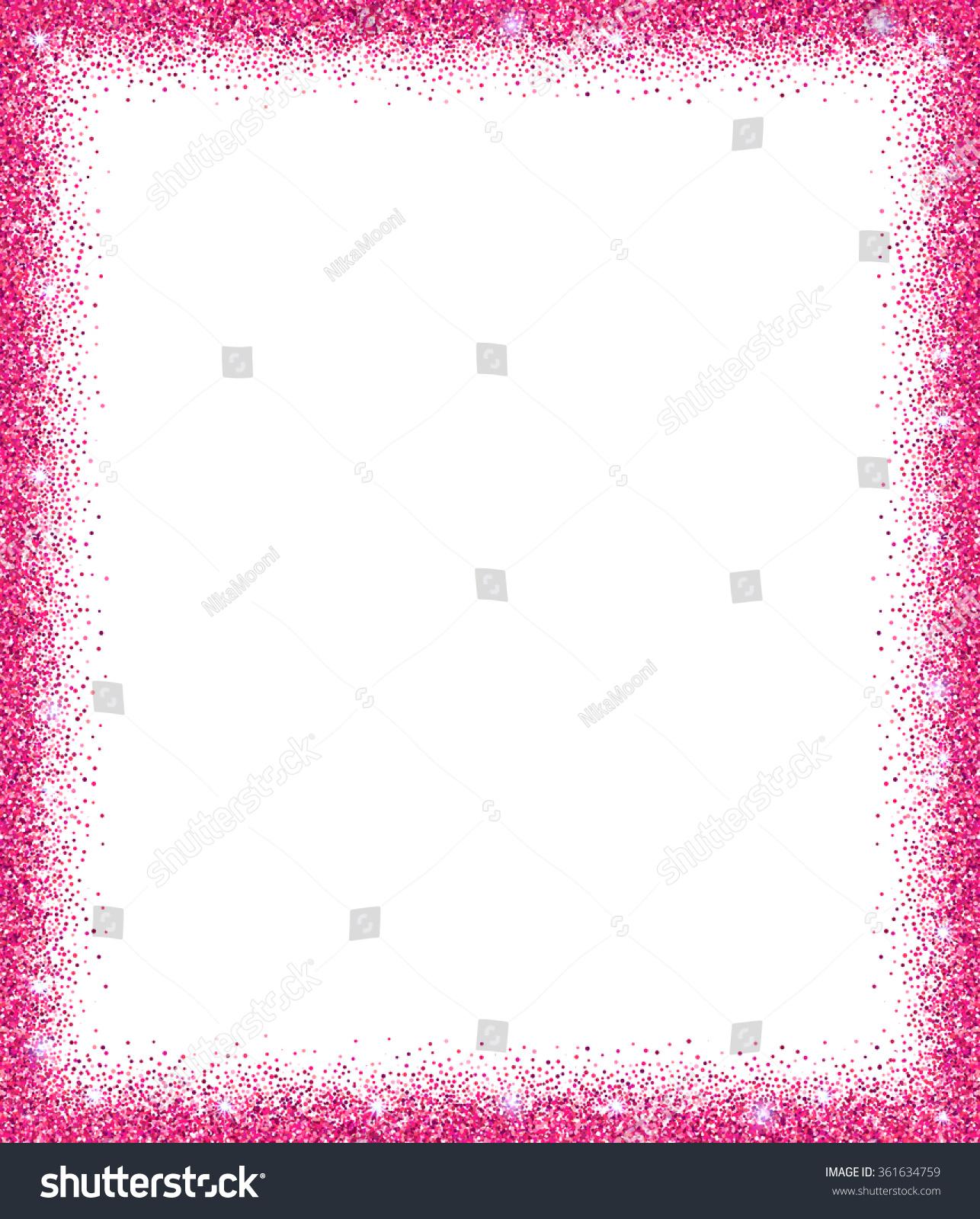 Pink Glitter Background Pink Sparkle Frame Stock Vector ...