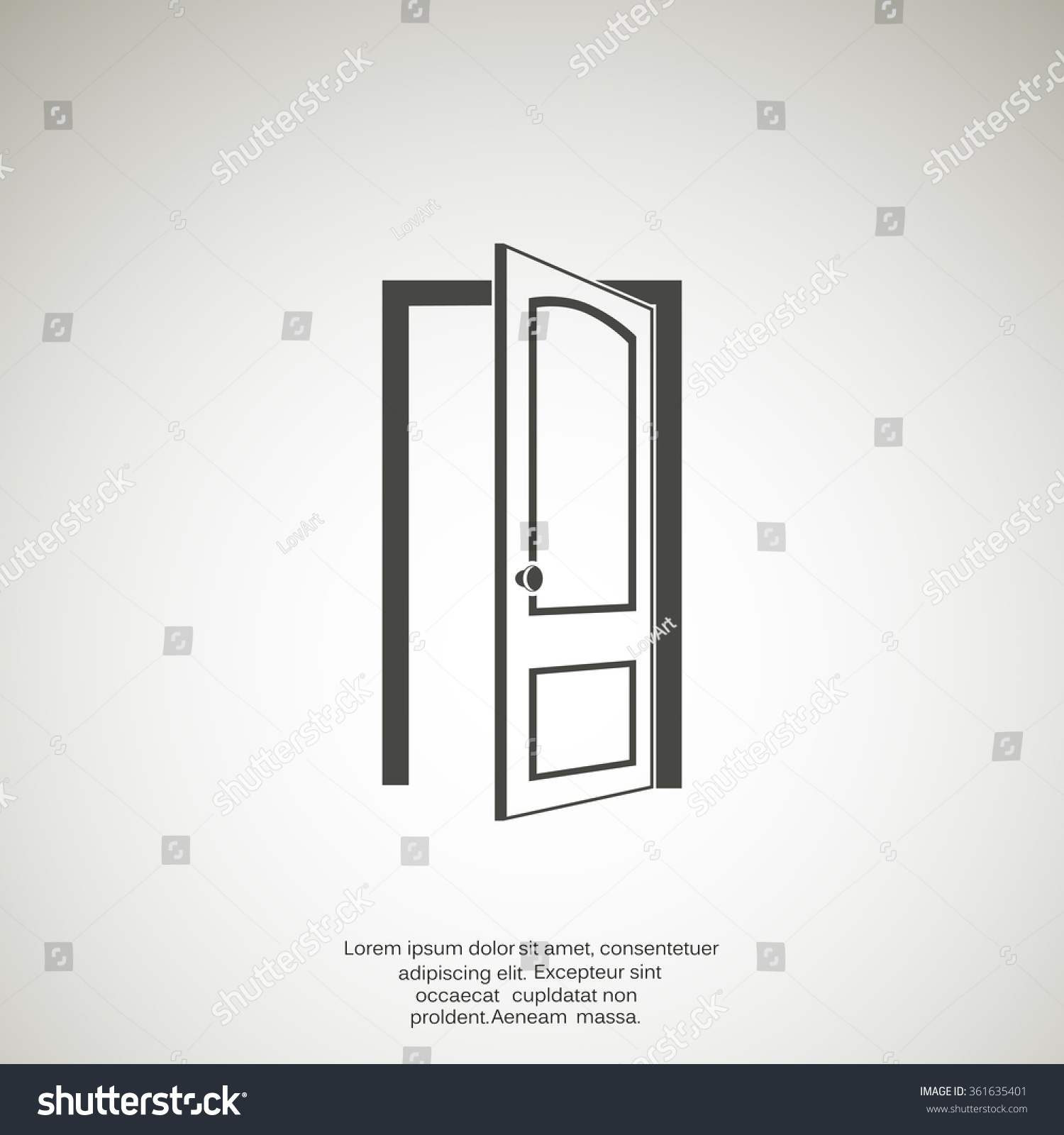 open door vector icon stock vector 361635401 shutterstock