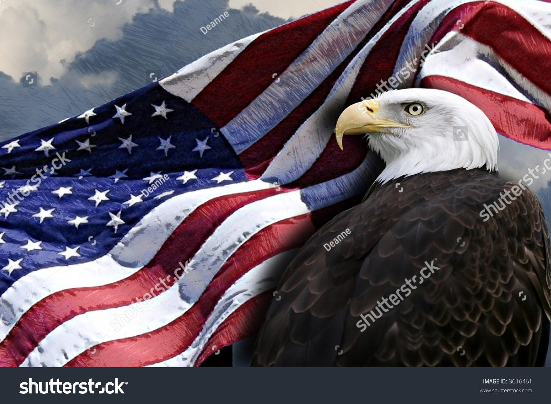 Patriotic Eagle American Flag Stock Photo 3616461 - Shutterstock