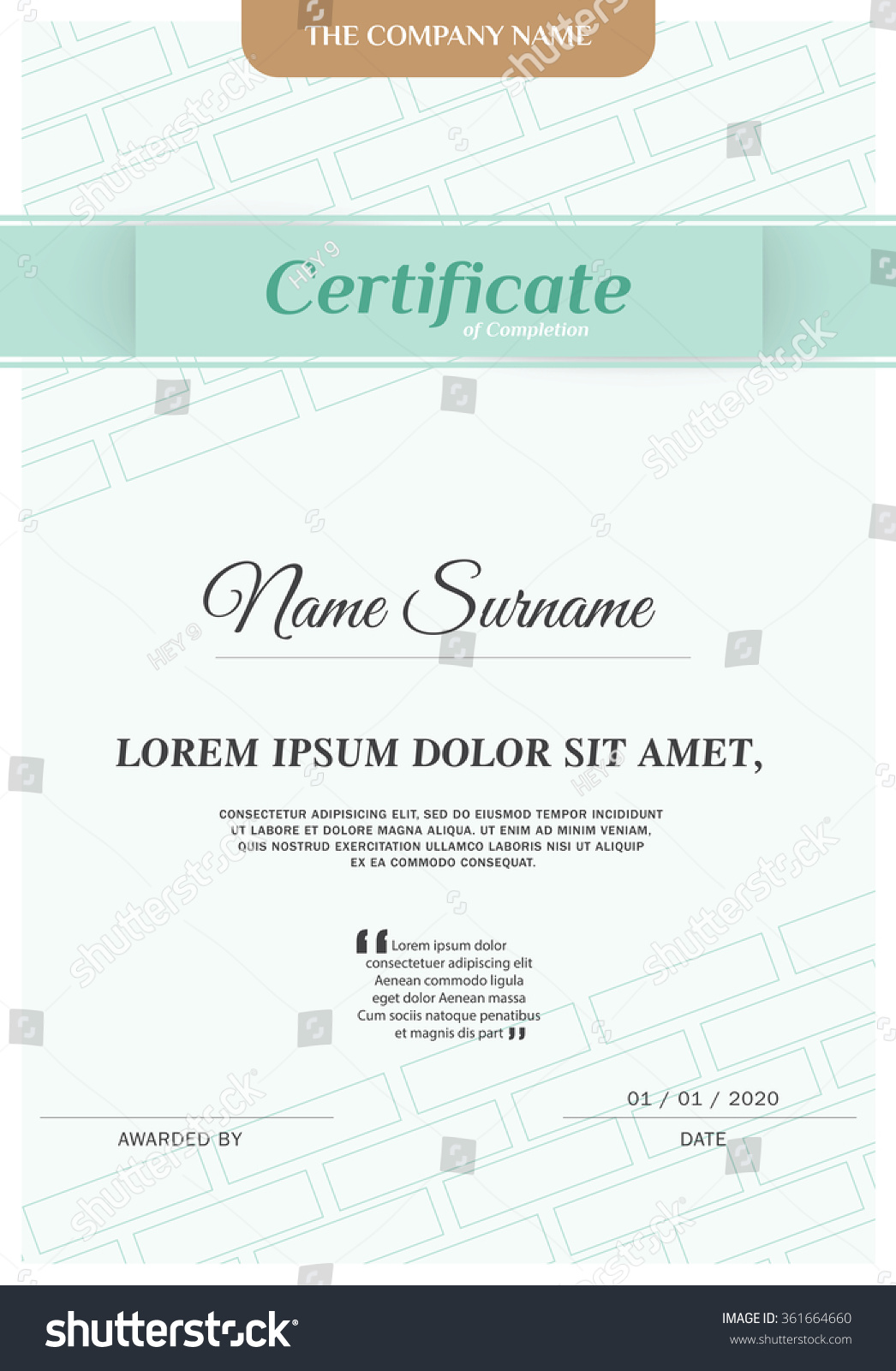 Free certificate template modern image collections certificate certificate vector template images templates example free download xflitez Choice Image