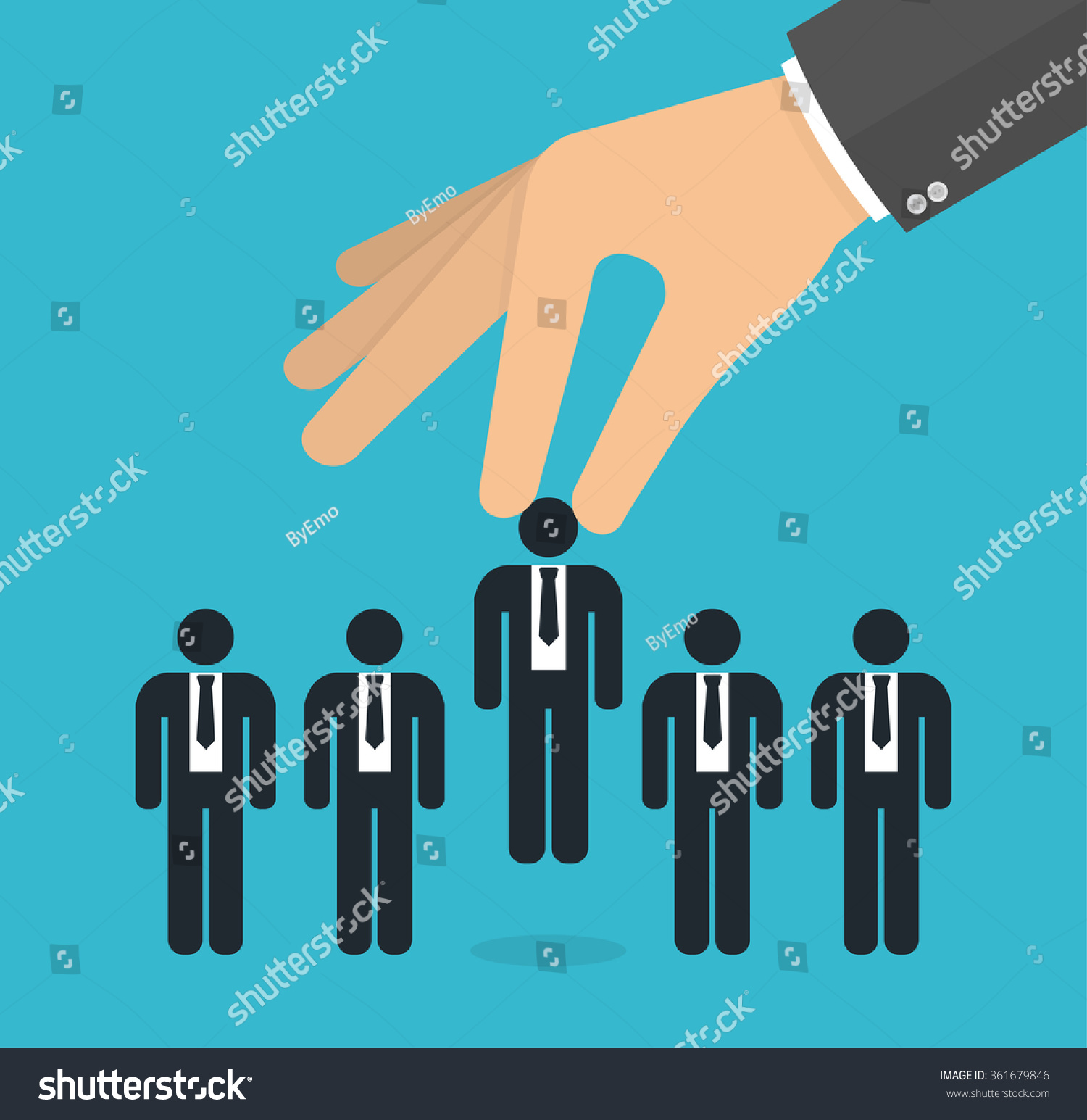choosing best candidate concept job concept stock vector 361679846 choosing the best candidate concept for the job concept hand picking up a businessman stick