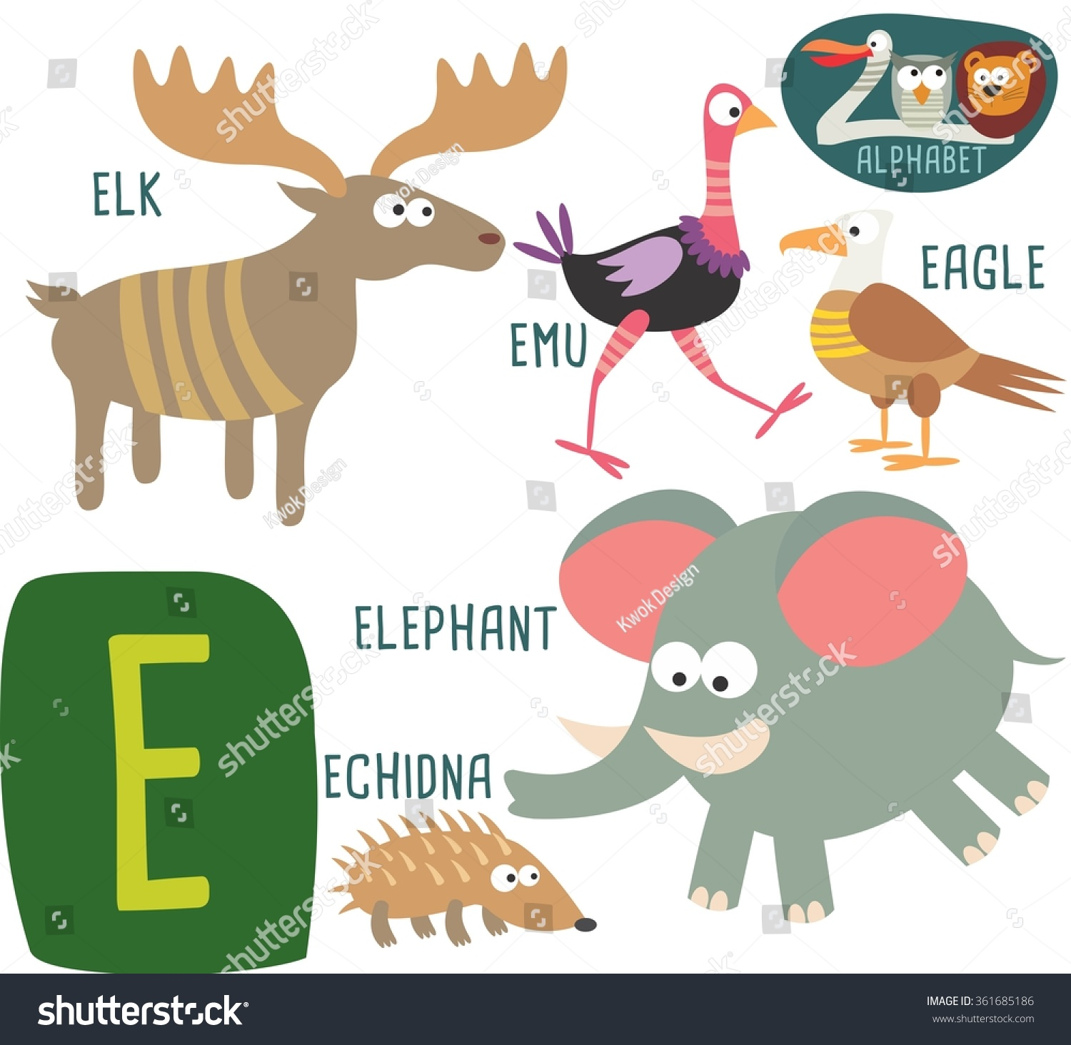 Royalty free cute zoo alphabet in vector e letter 361685186 stock cute zoo alphabet in vector e letter for elk emu eagle elephant echidna funny cartoon animals alphabet design in a colorful style stock photo thecheapjerseys Gallery
