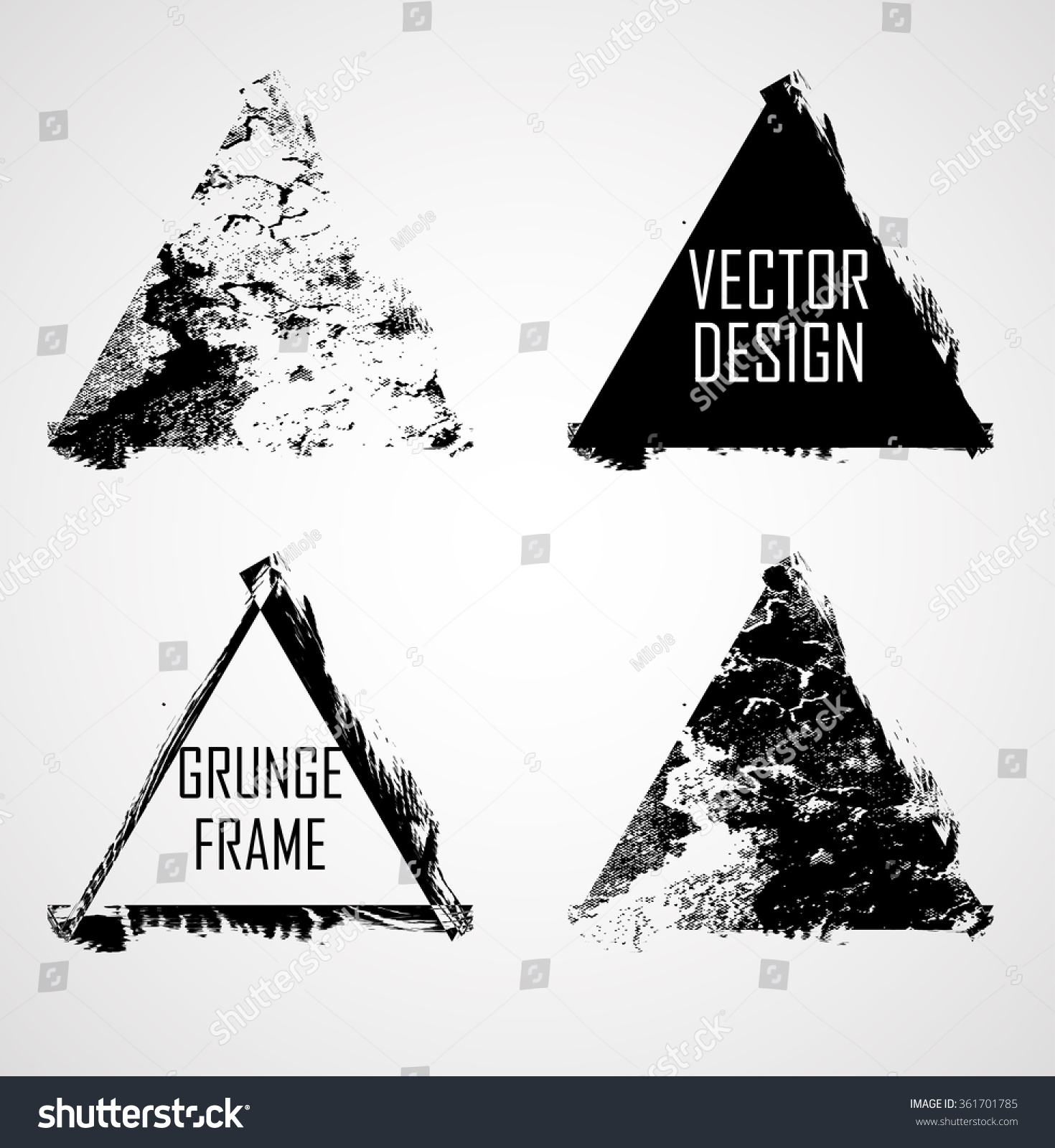 Triangle Retro Shape Black Stamp Banners Stock Vector 361701785 ...