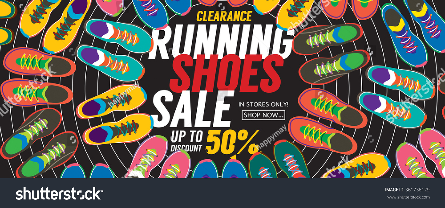 0c16e72c2d72fd Running Shoes Sale 6250x2500 Pixel Banner Stock Vector (Royalty Free ...