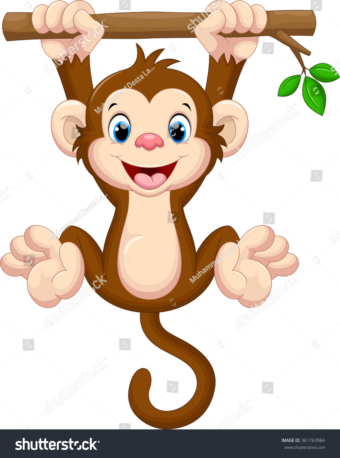 clipart monkey hanging from tree - photo #46
