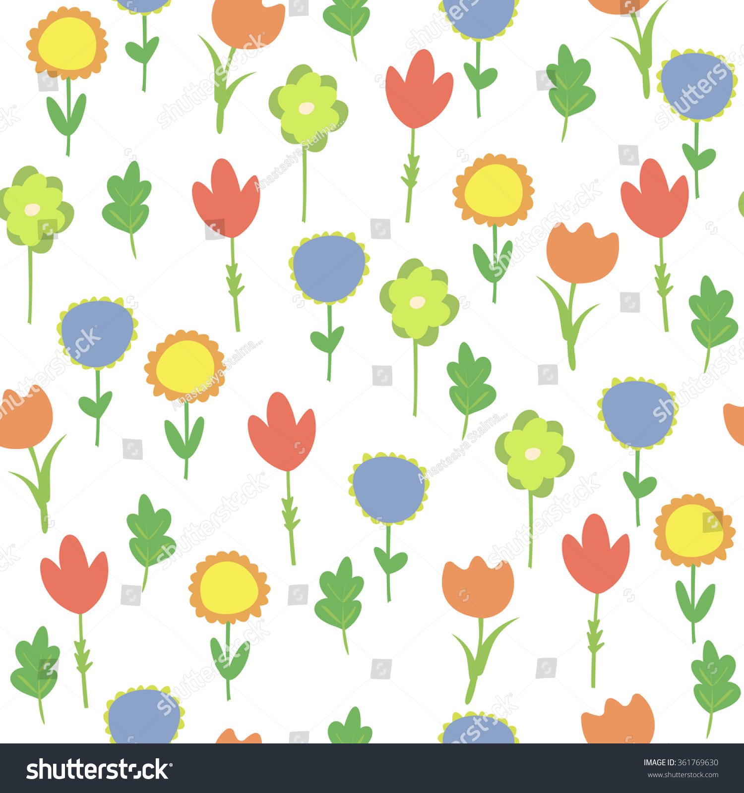 Background Colorful Flowers Pattern Flowers Tulip Stock