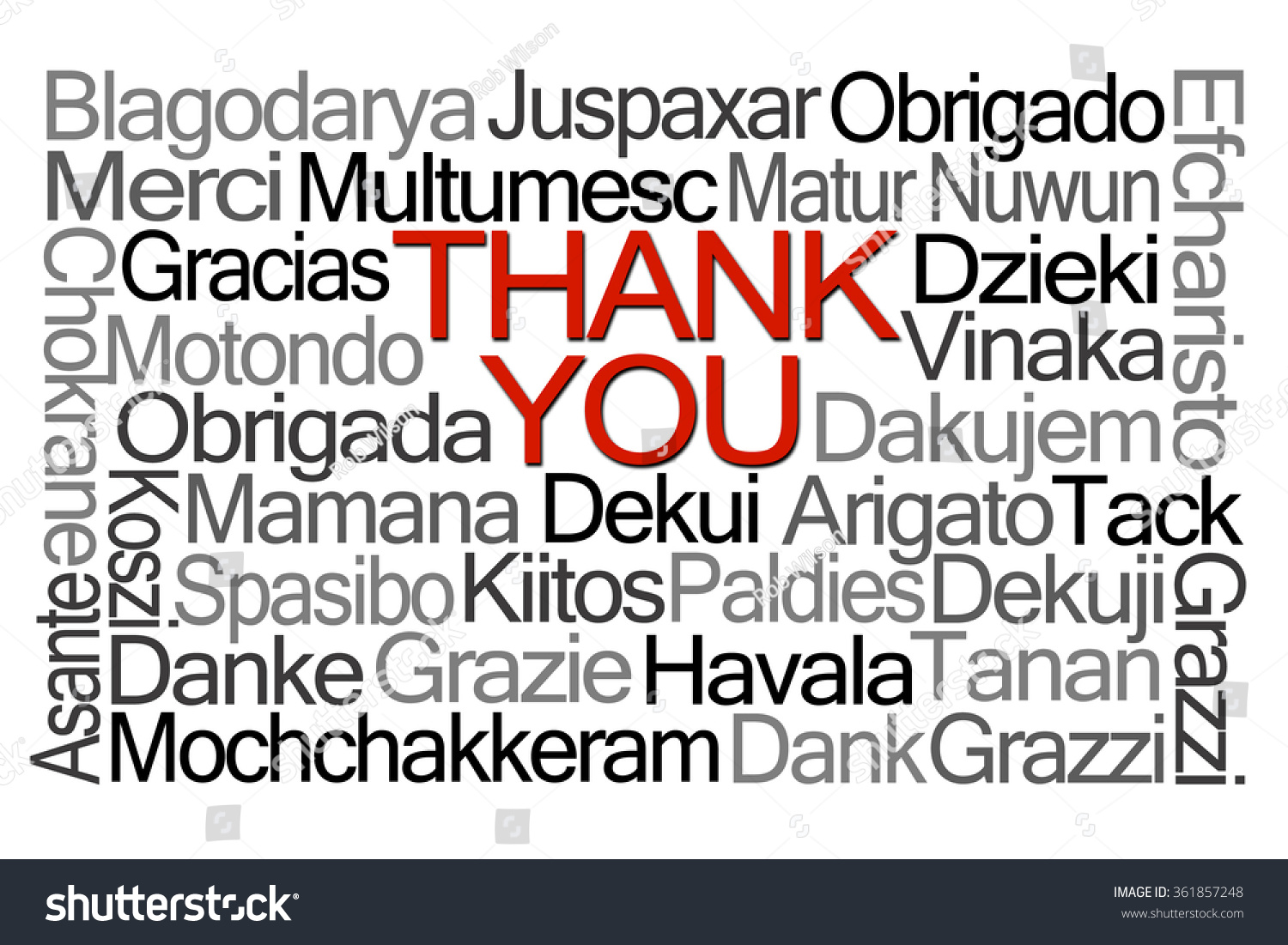 Thank You Word Cloud Different Languages Stock Illustration ...