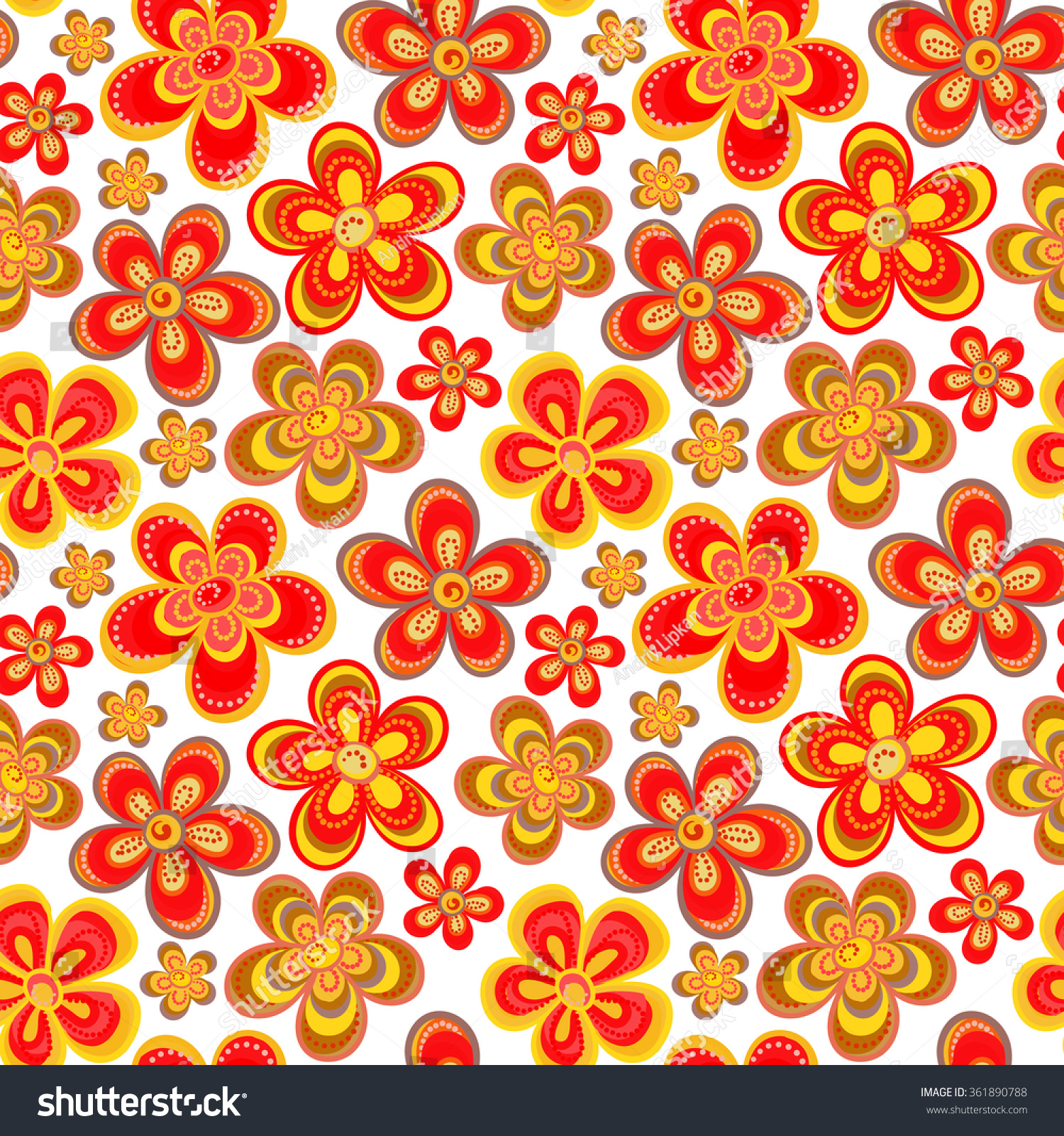 Vector Seamless Floral Pattern Bright Multiple Stock Vector (Royalty ...
