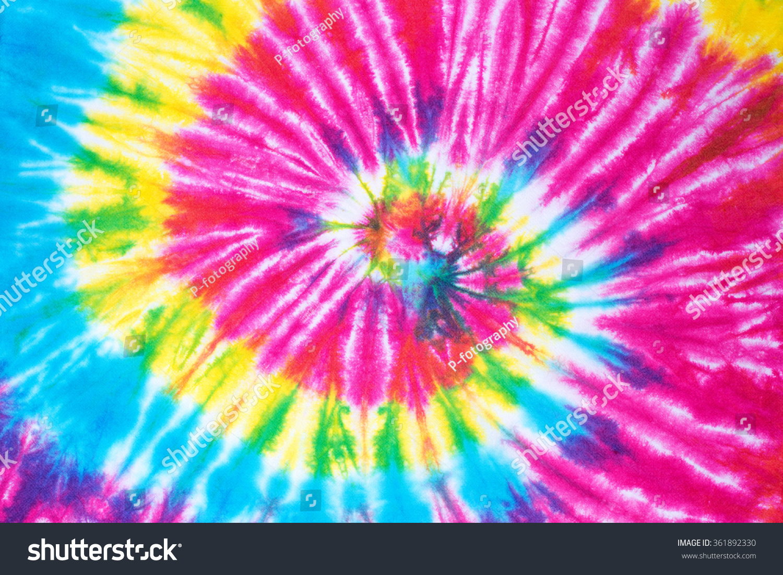 Backgrounds Hd Tie Dye Colorful Vortex Swirls Wallpaper: Rainbow Spiral Tie Dye Pattern… Stock Photo 361892330