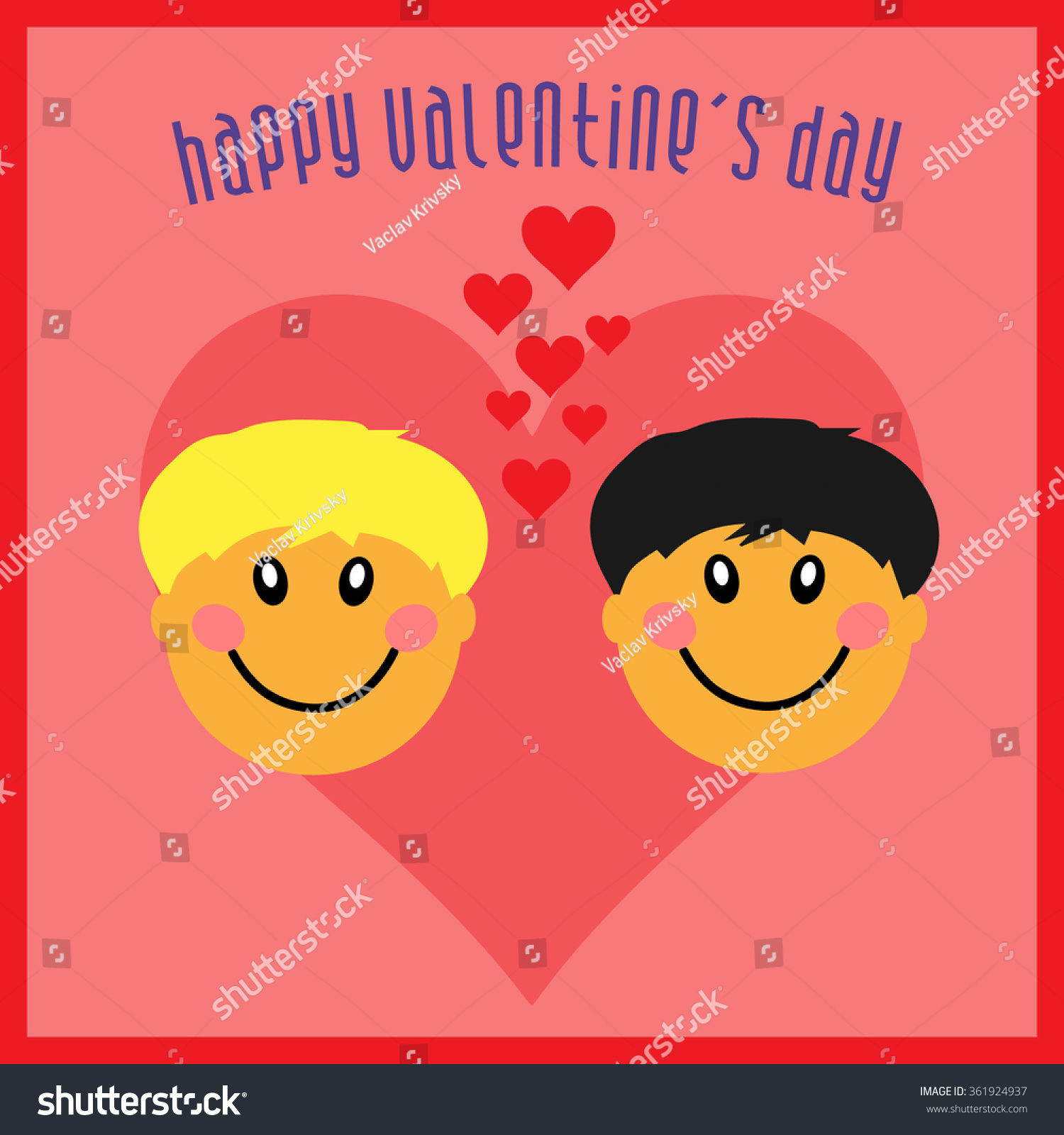 Gay Happy Valentines Day Greeting Card Vector 361924937 – Gay Valentines Card