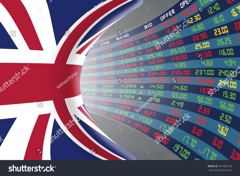 Flag United Kingdom Large Display Daily Stock Illustration