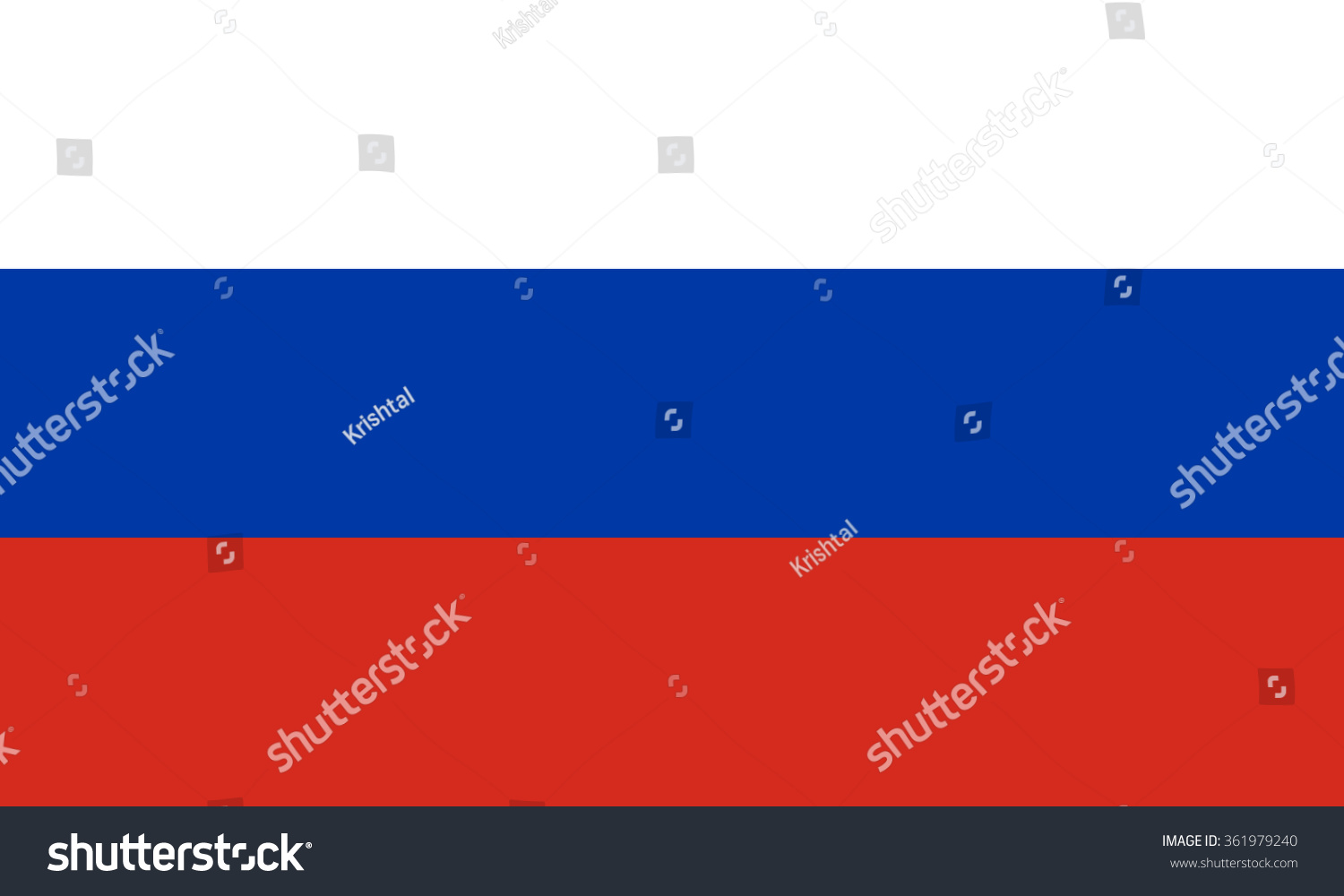 Vector Flag Russia National Symbol Russia Stock Vector Royalty Free