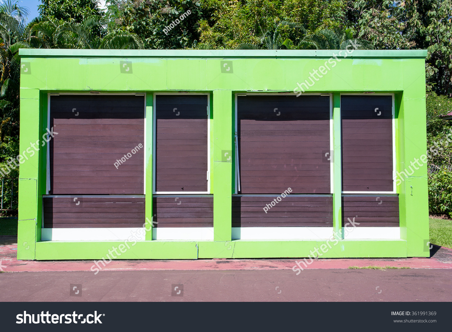 Exterior Green Restaurant Cafe Shop Front Stock Photo Edit Now 361991369