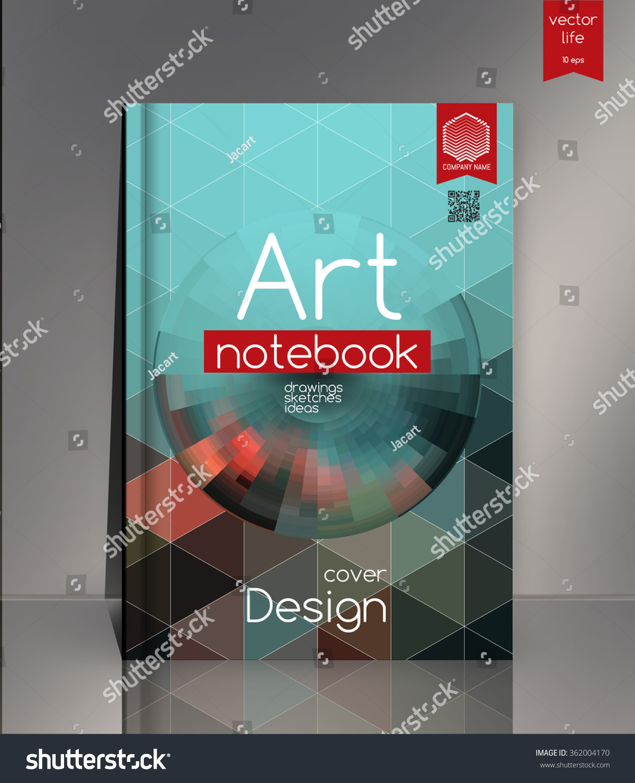 Modern Book Cover Fonts : Cover design modern concept stock vector