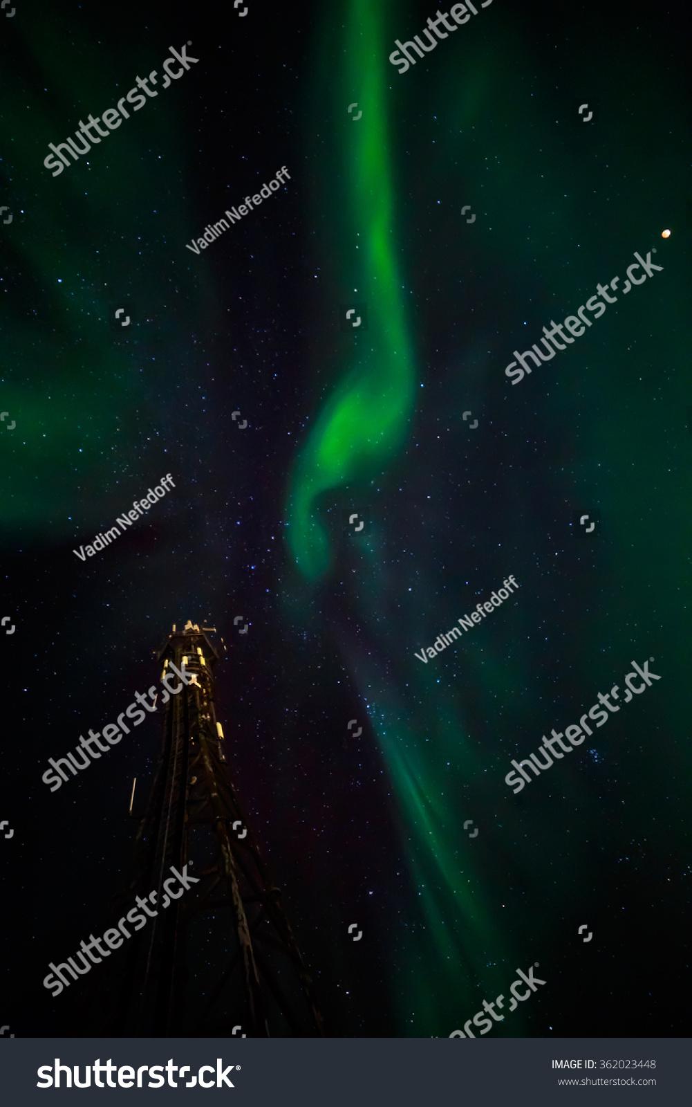 Northern Lights Over Nuuk Nuuk Greenland Stock Photo (Edit Now