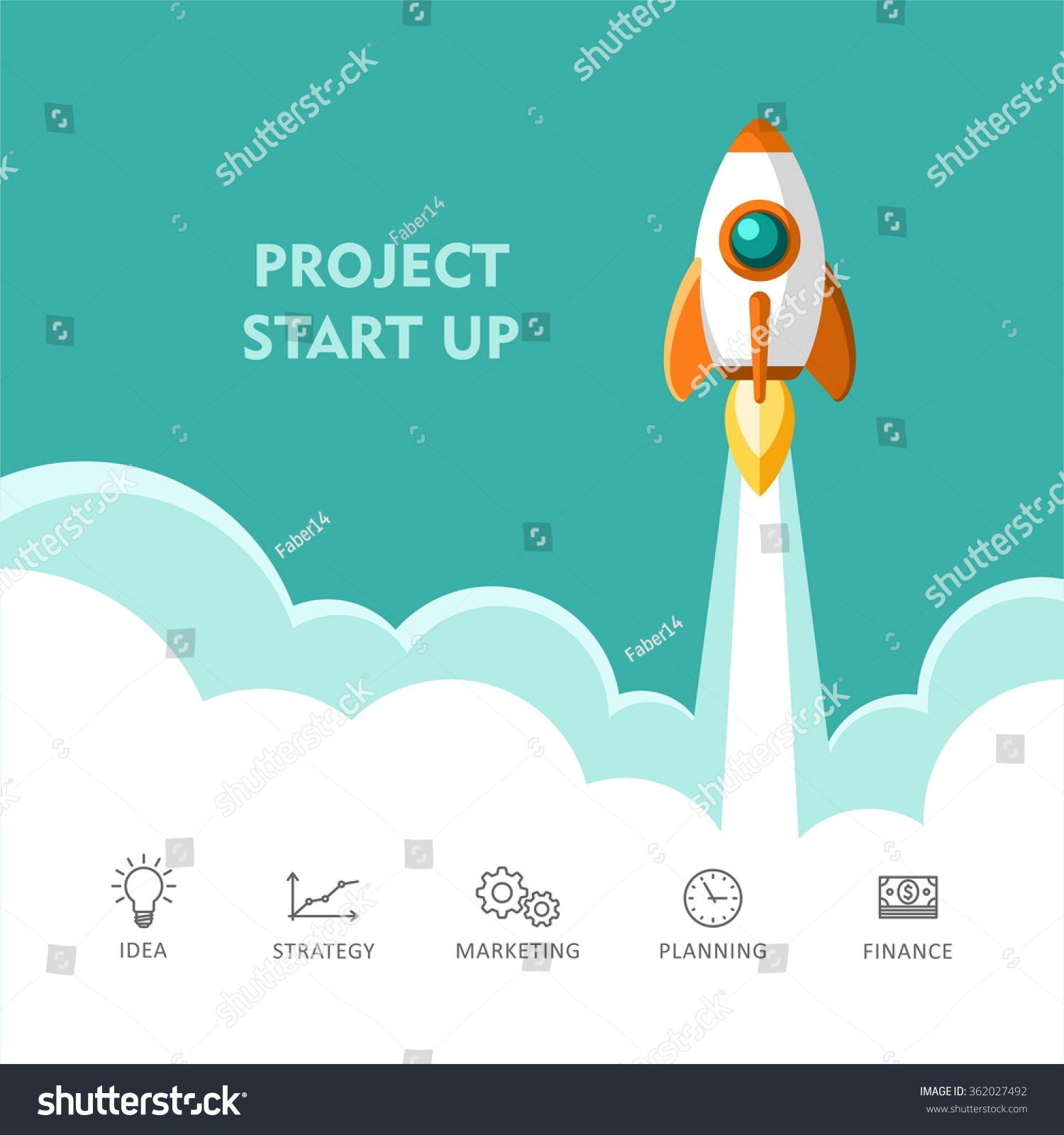 start up rocket ship flat design stock vector 362027492 shutterstock