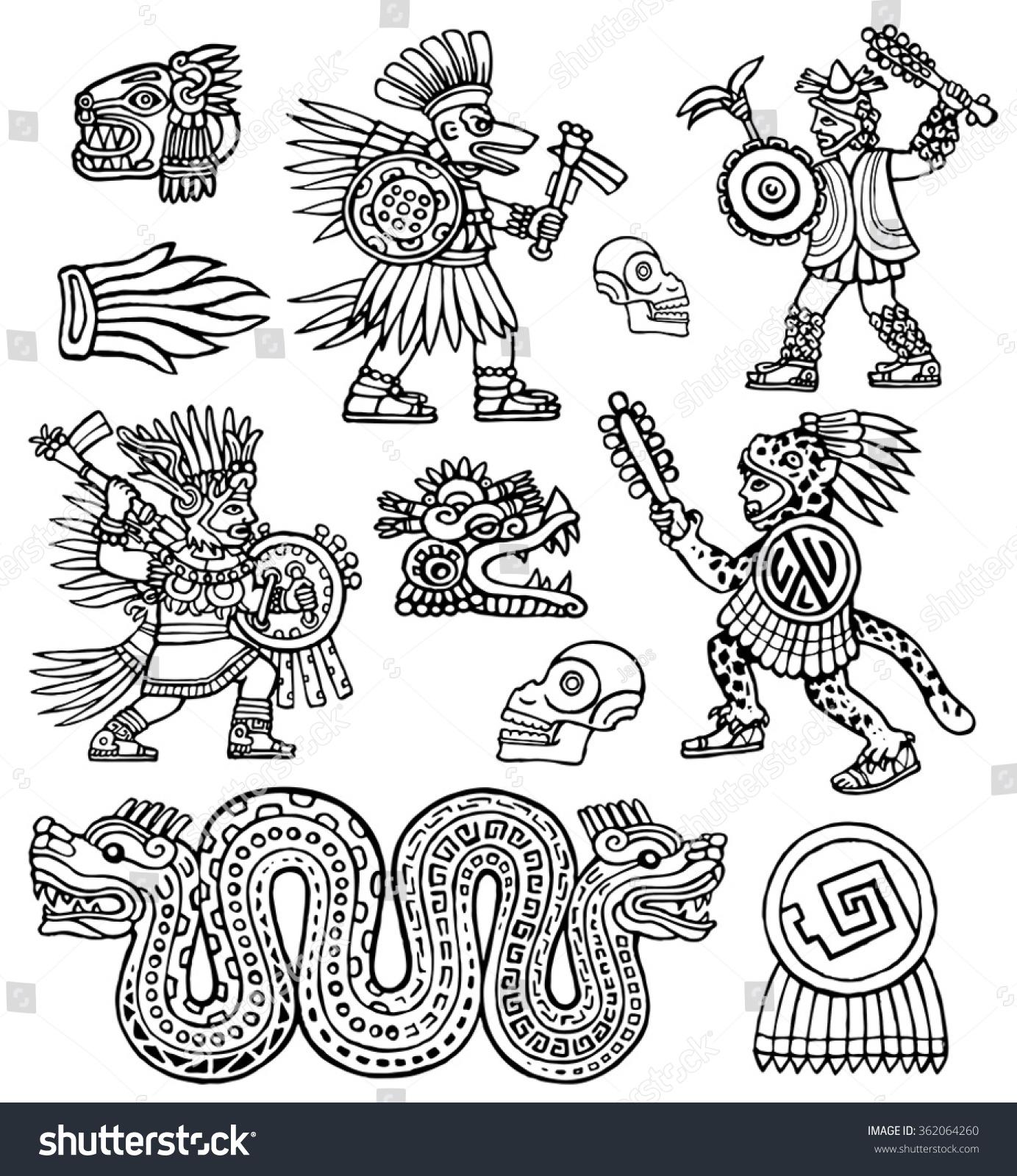 Ancient Aztec Warrior Symbols Images For Traditional Aztec