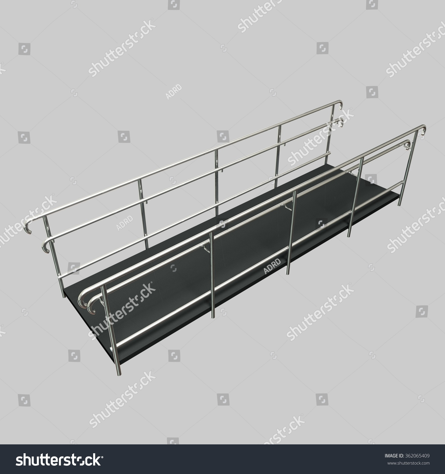 Perspective Ramp Disabled Shiny Rails Stock Illustration 362065409 ...