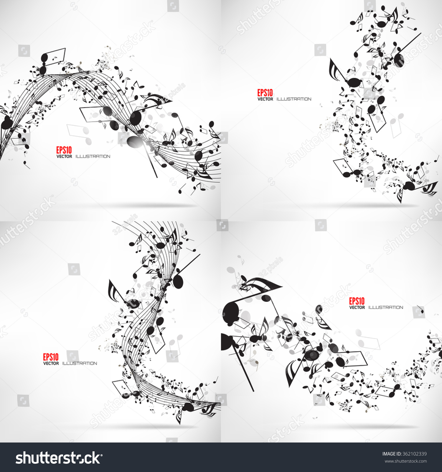 Music notes shadowabstract musical background vector stock vector music notes and shadowabstract musical background vector illustrationnsural musical notation biocorpaavc