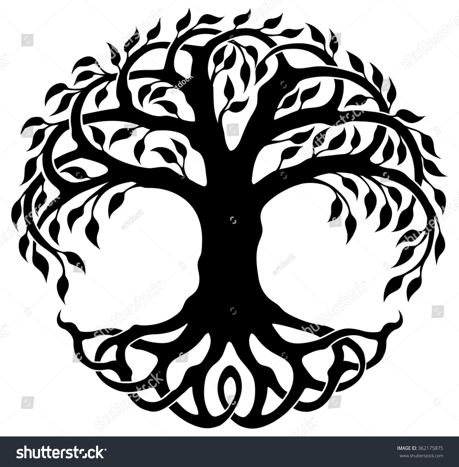 vector ornament decorative celtic tree life stock vector 2018 rh shutterstock com tree of life vector download tree of life vector art