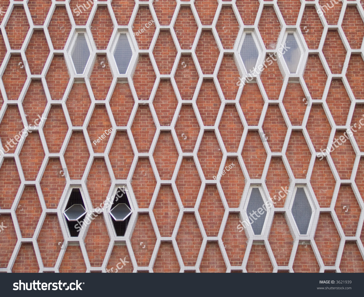 Honeycomb Brick Work : Exterior face s brick building honeycomb stock photo