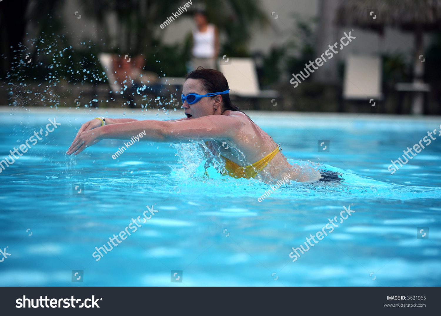 Young woman swimming pool stock photo 3621965 shutterstock for Female only swimming pool london