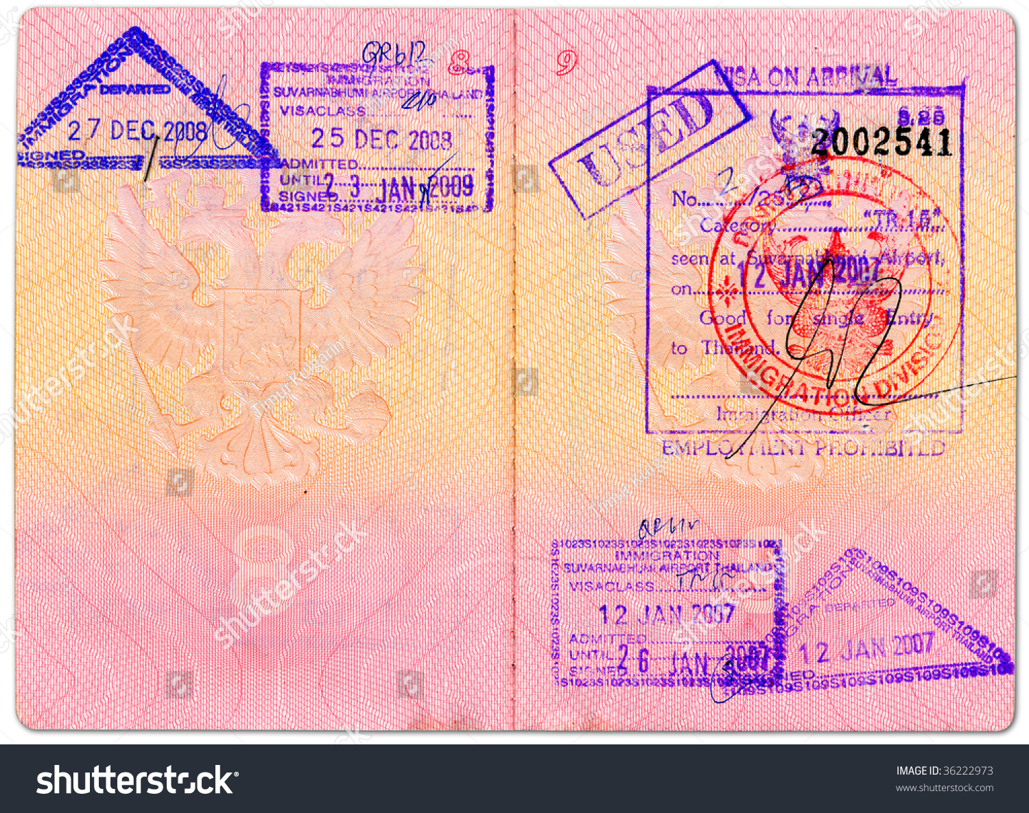 Highres Scan Two Pages Russian Passport Stock Photo (Edit