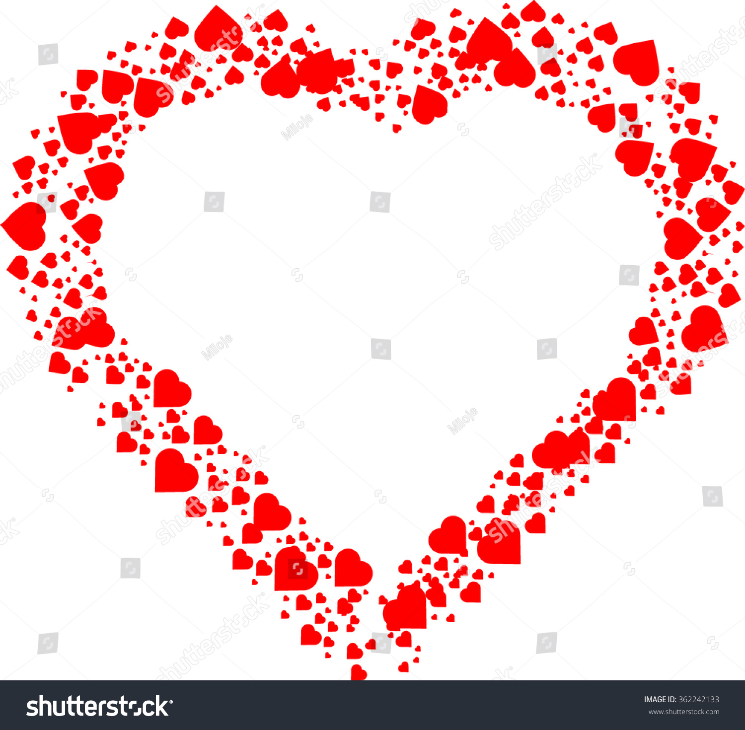 Similar Images, Stock Photos & Vectors of Love Red Frame Valentines ...
