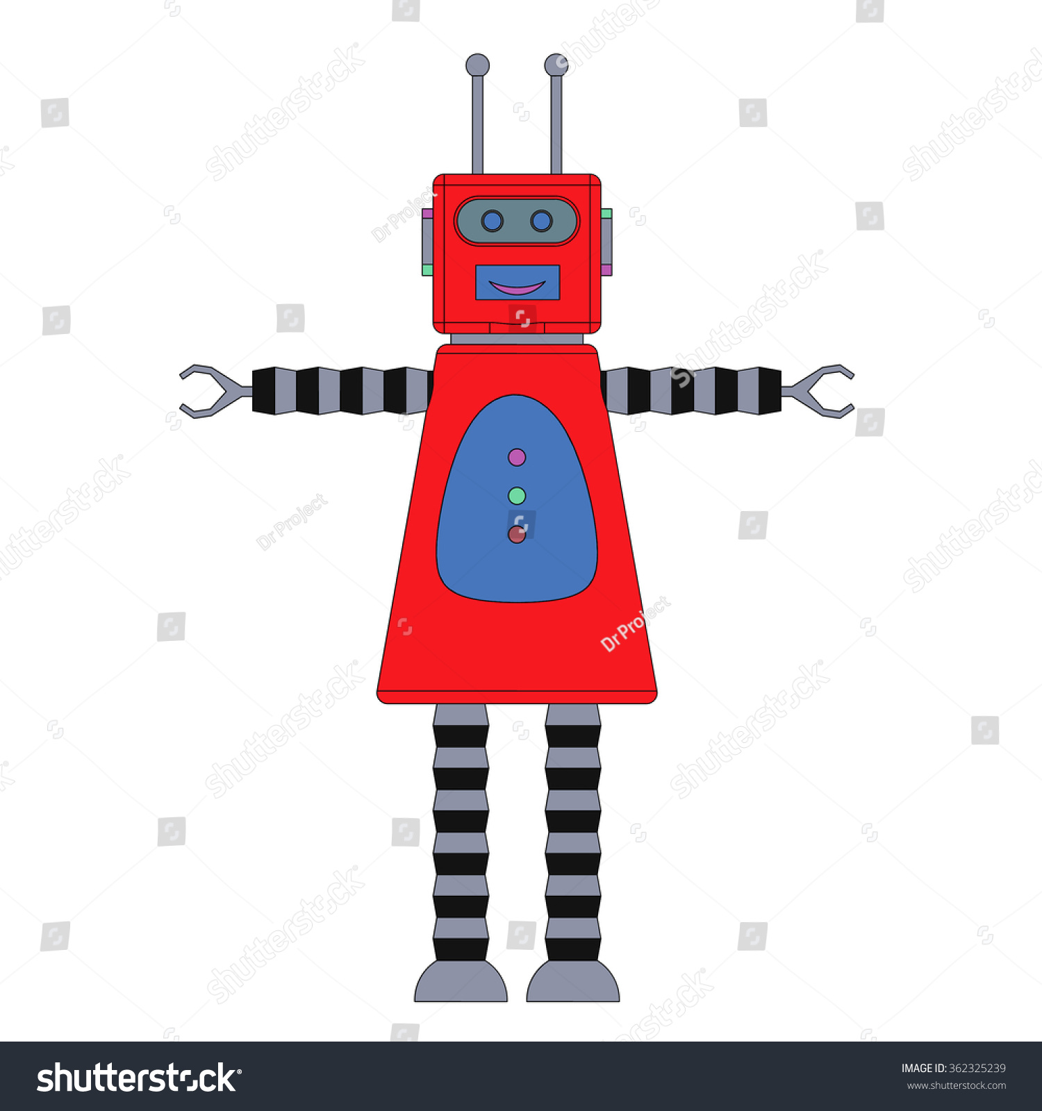 Toy Robot Girl Toy Robot White Stock Vector Shutterstock