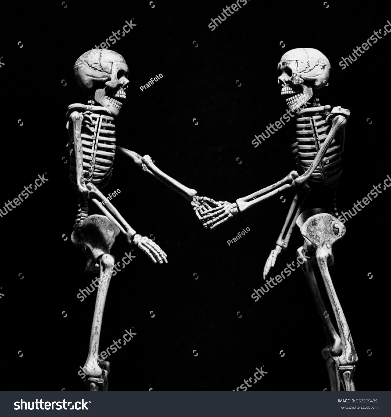 Skeletons Shaking Hands Stock Photo 362369435 - Shutterstock