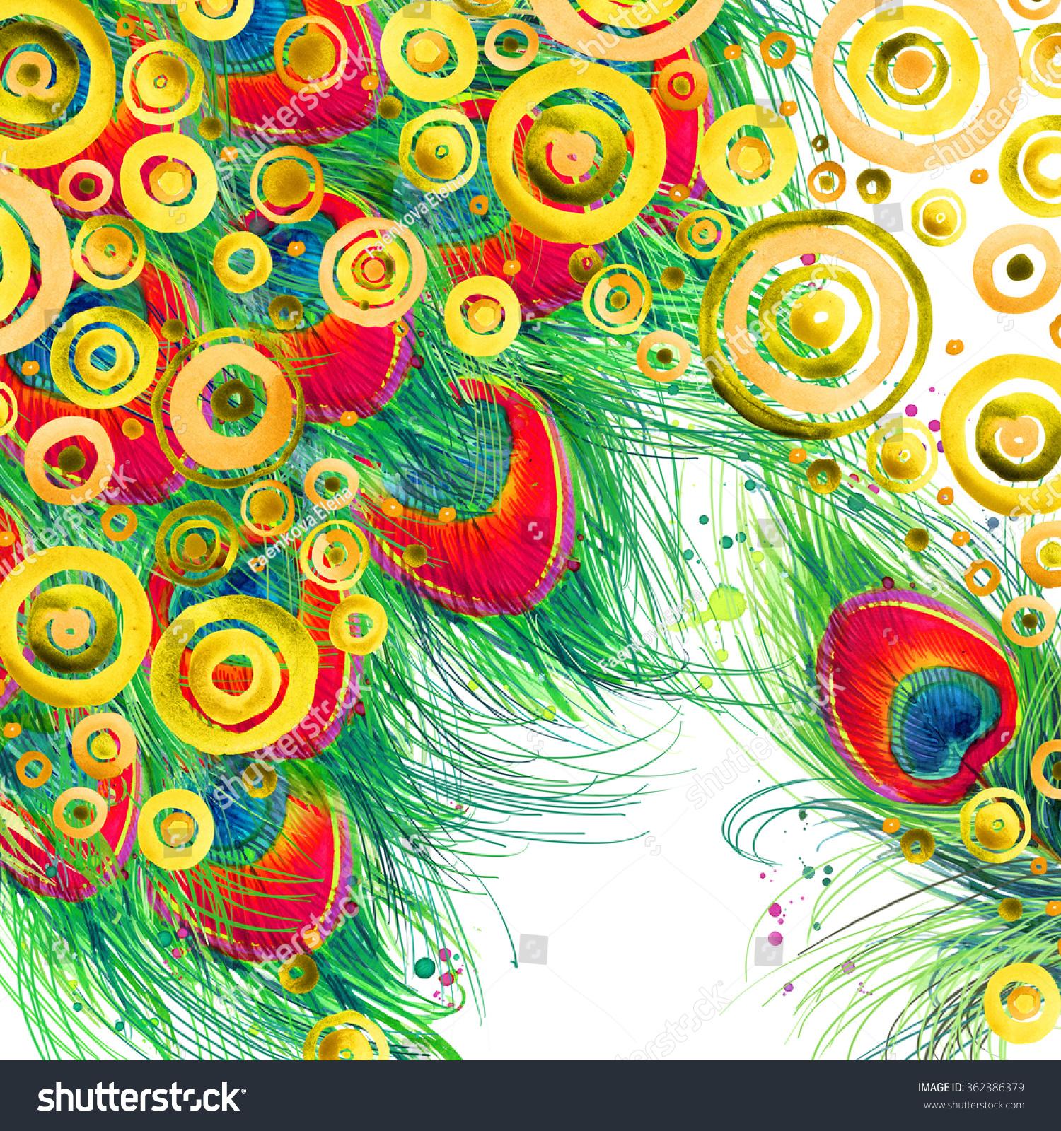 Abstract Peacock Drawing