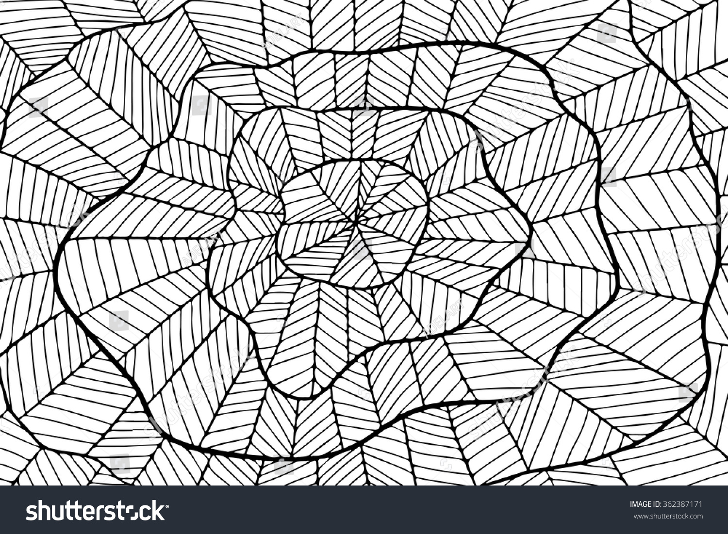 Background Zentangle Abstract Zentangle Simple Ornament Stock Vector