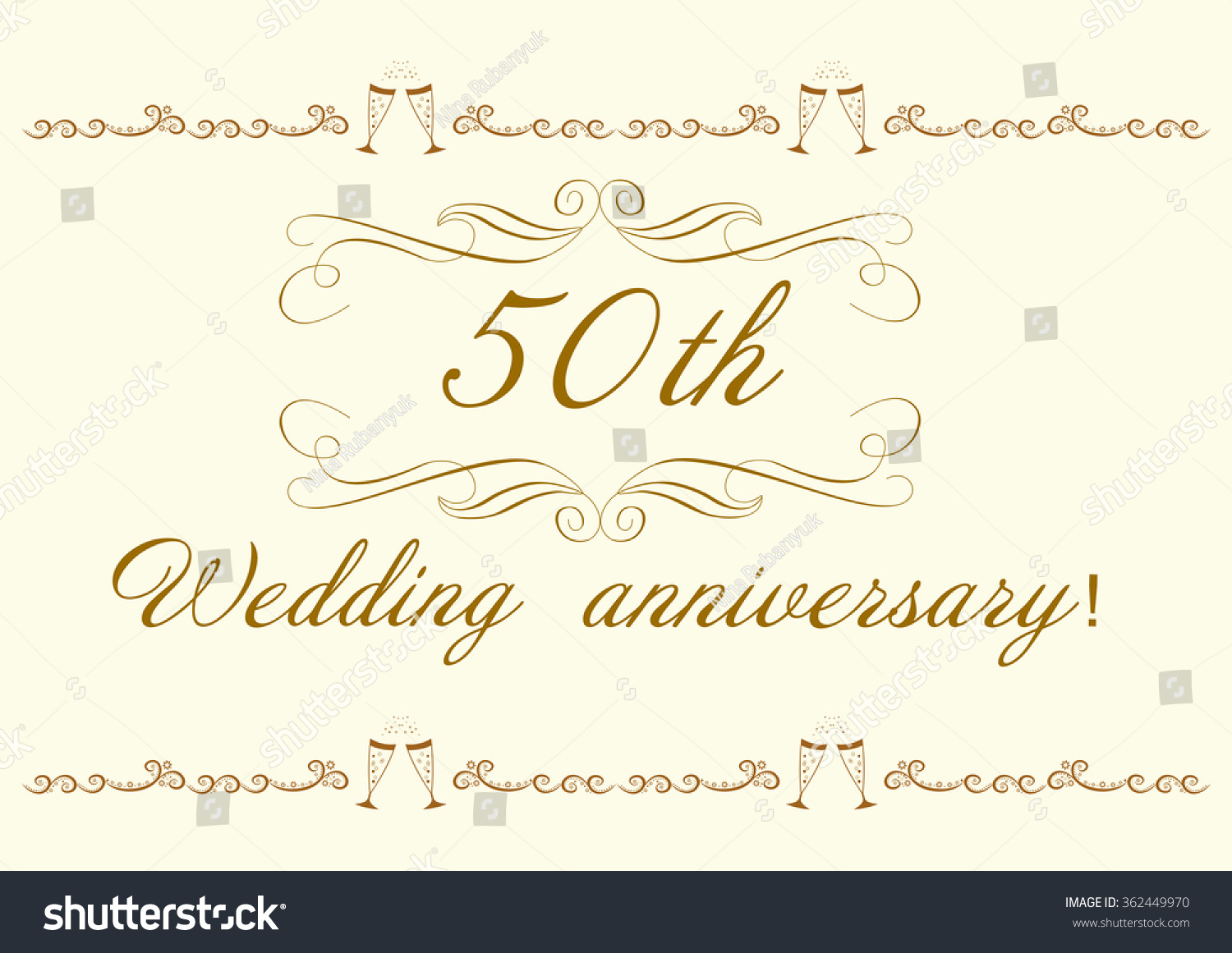 50th wedding anniversary invitation beautiful vector stock vector 50th wedding anniversary invitation beautiful vector illustration stopboris Choice Image